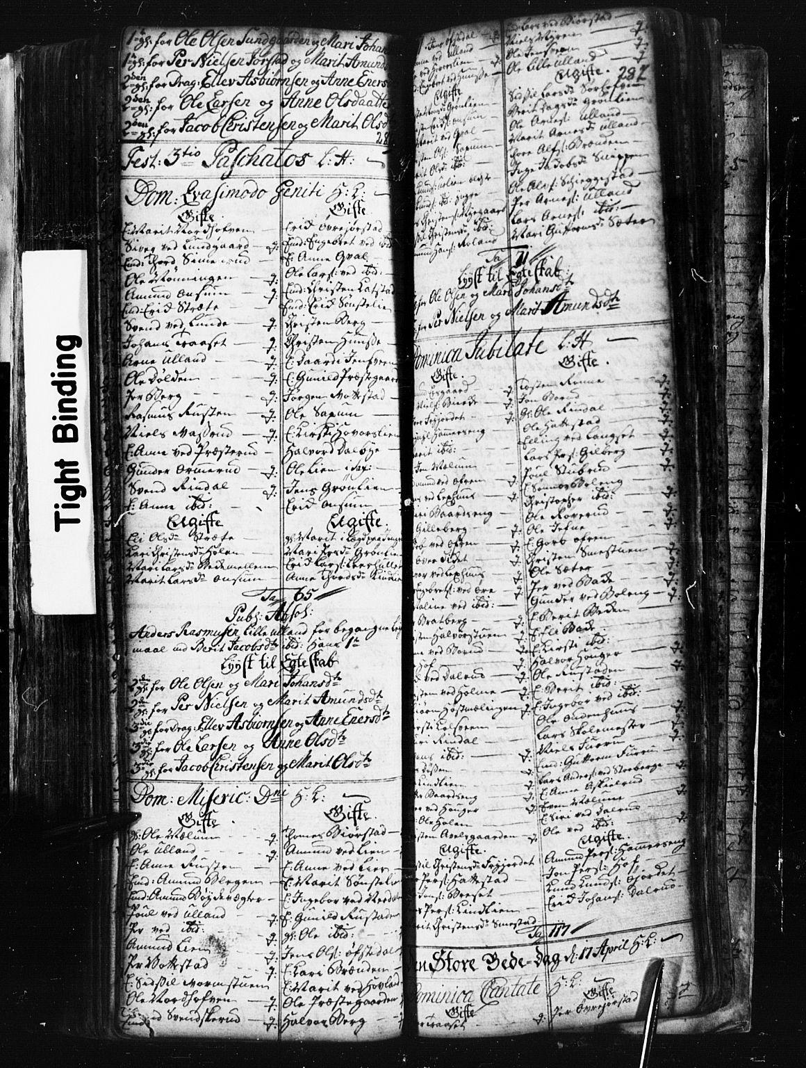 SAH, Fåberg prestekontor, Klokkerbok nr. 1, 1727-1767, s. 286-287
