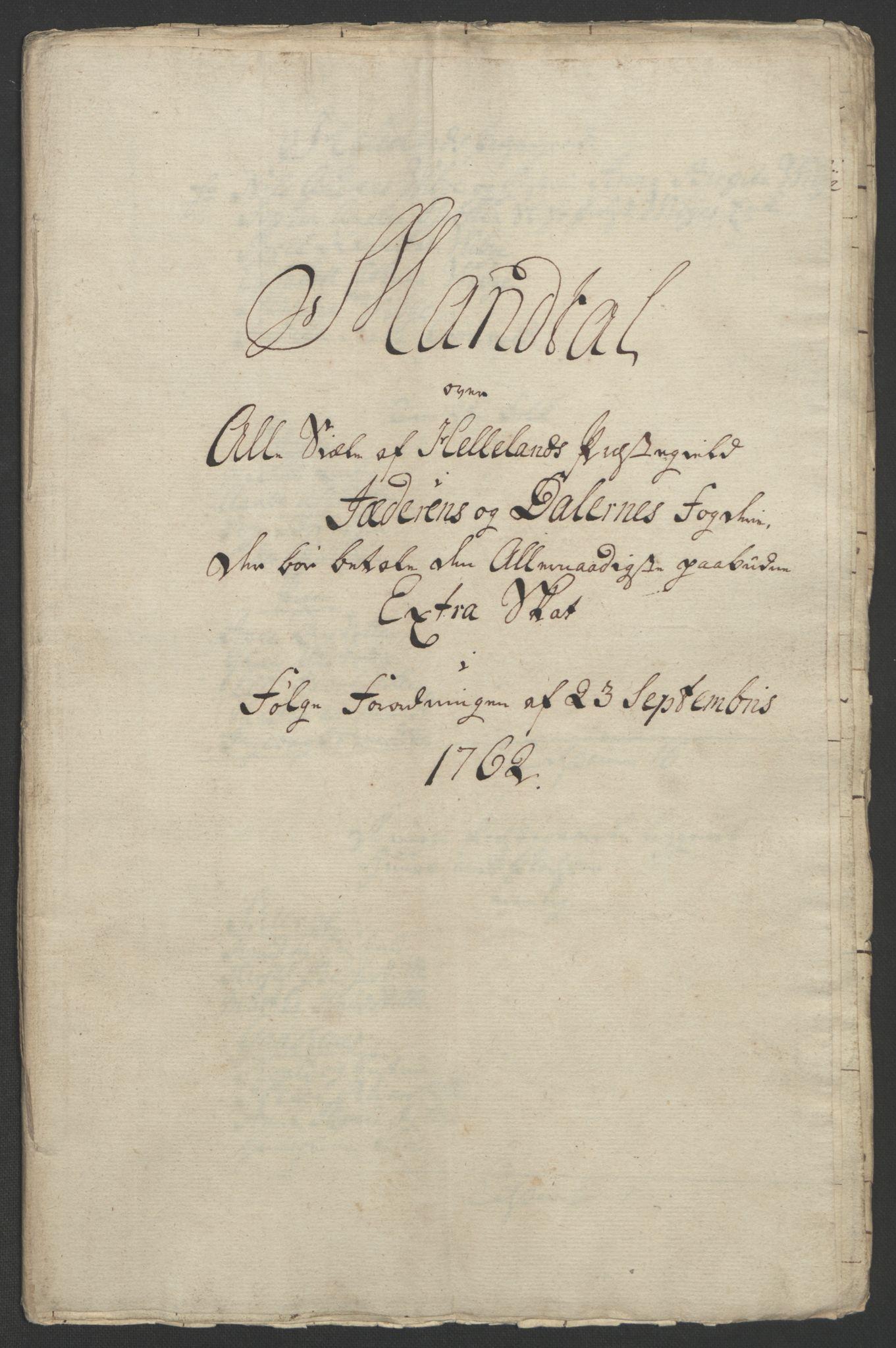 RA, Rentekammeret inntil 1814, Realistisk ordnet avdeling, Ol/L0015: [Gg 10]: Ekstraskatten, 23.09.1762. Stavanger by, Jæren og Dalane, Bergen, 1762-1764, s. 147