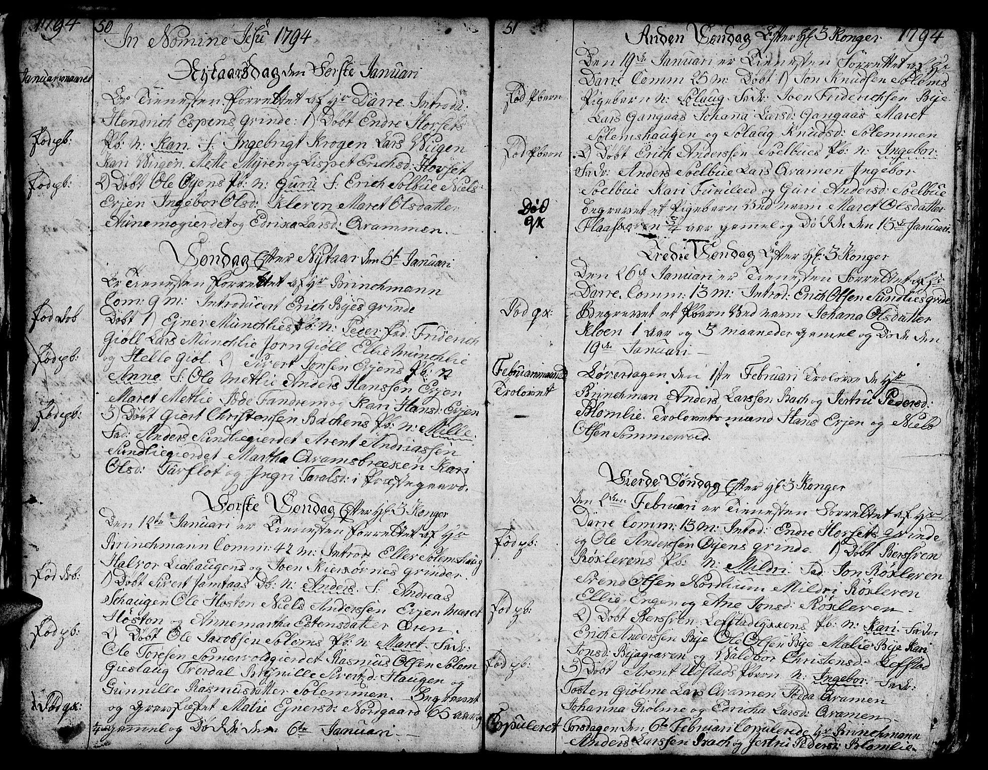 SAT, Ministerialprotokoller, klokkerbøker og fødselsregistre - Sør-Trøndelag, 668/L0815: Klokkerbok nr. 668C04, 1791-1815, s. 50-51
