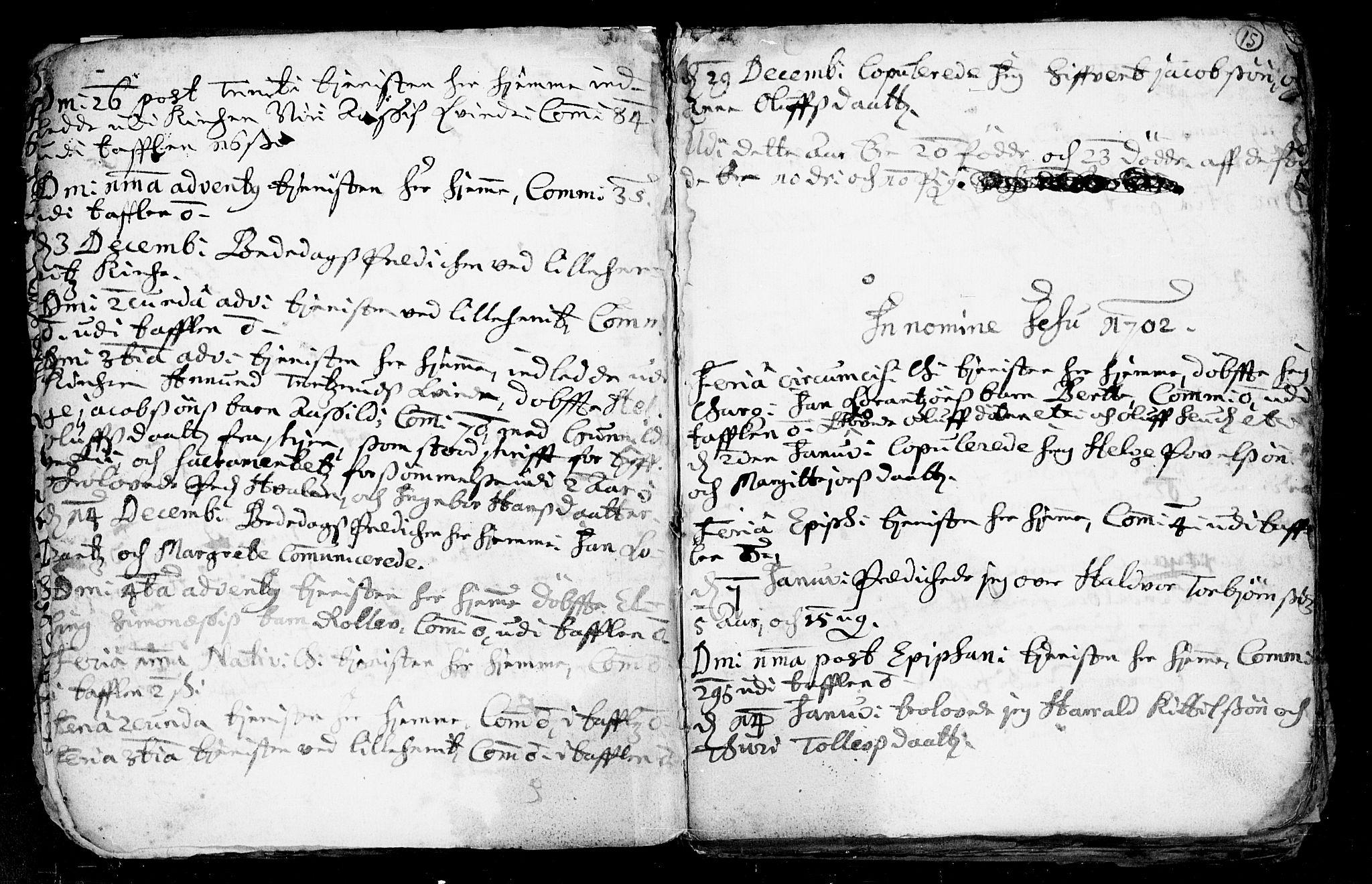 SAKO, Heddal kirkebøker, F/Fa/L0002: Ministerialbok nr. I 2, 1699-1722, s. 15