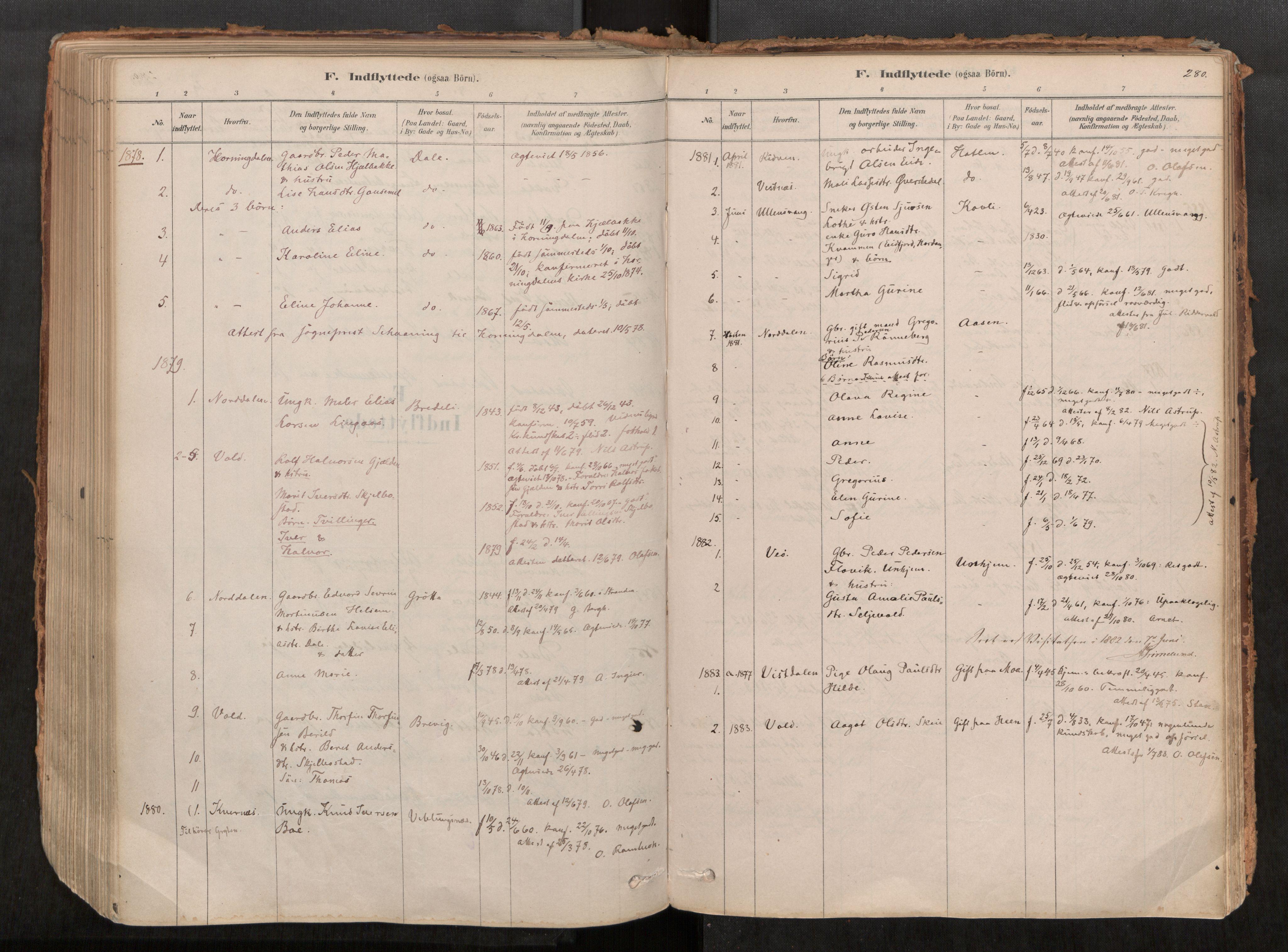 SAT, Grytten sokneprestkontor, Ministerialbok nr. 545A03, 1878-1920, s. 280