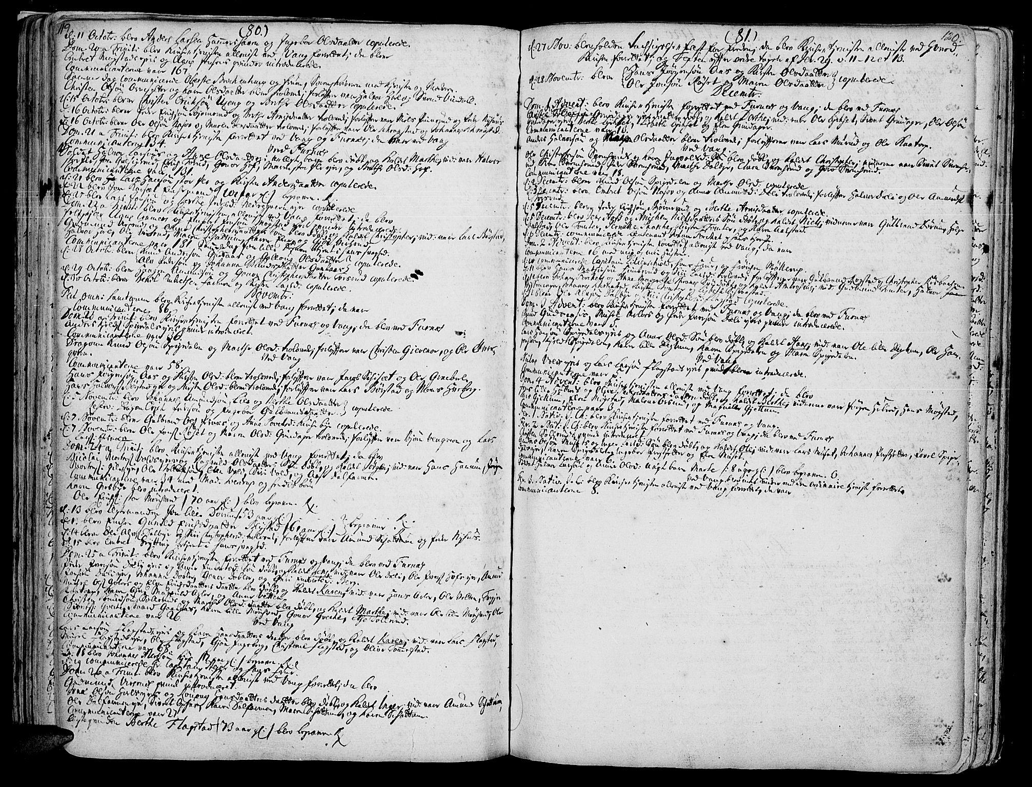 SAH, Vang prestekontor, Hedmark, H/Ha/Haa/L0002A: Ministerialbok nr. 2A, 1713-1733, s. 119-120