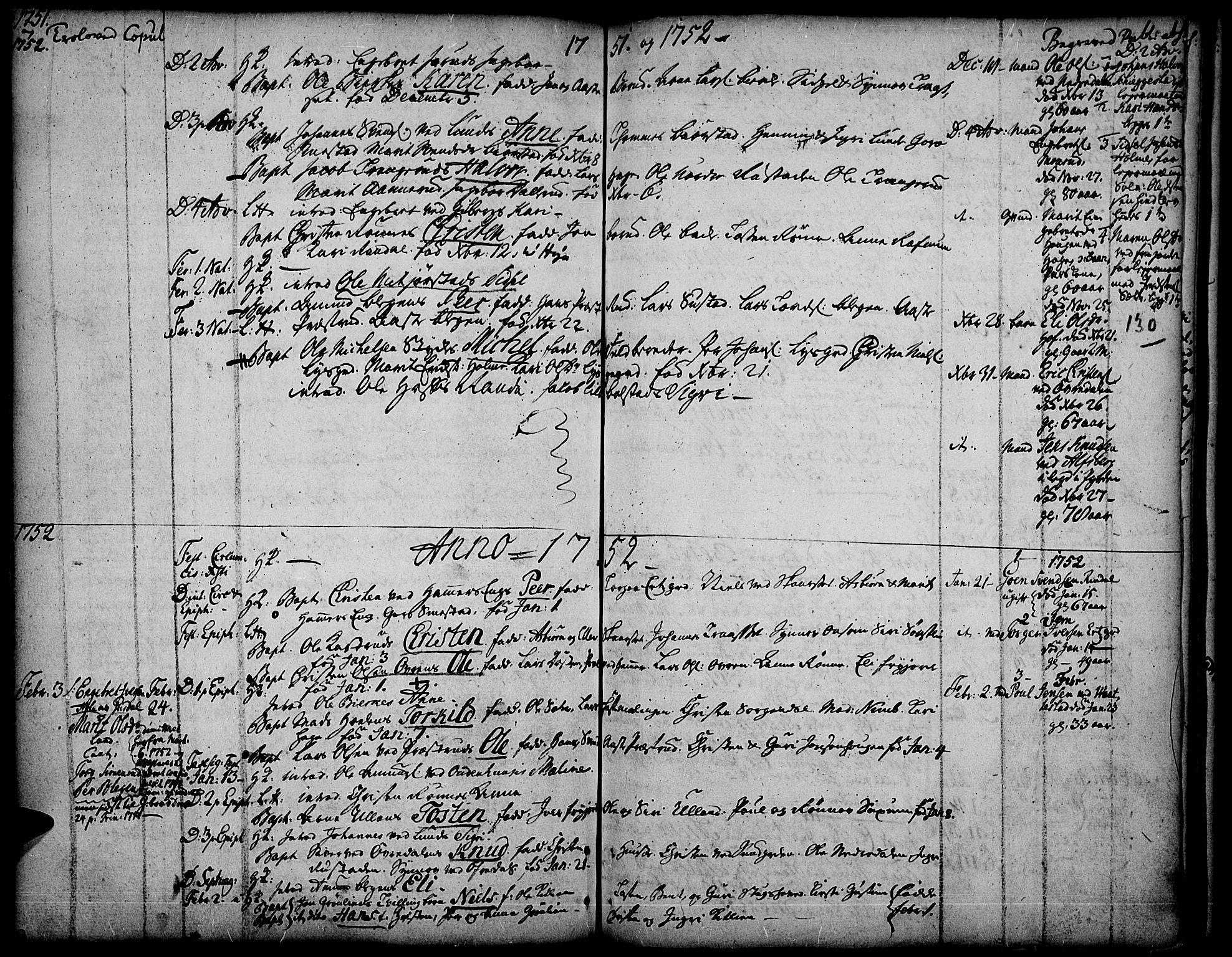 SAH, Fåberg prestekontor, Ministerialbok nr. 1, 1727-1775, s. 130