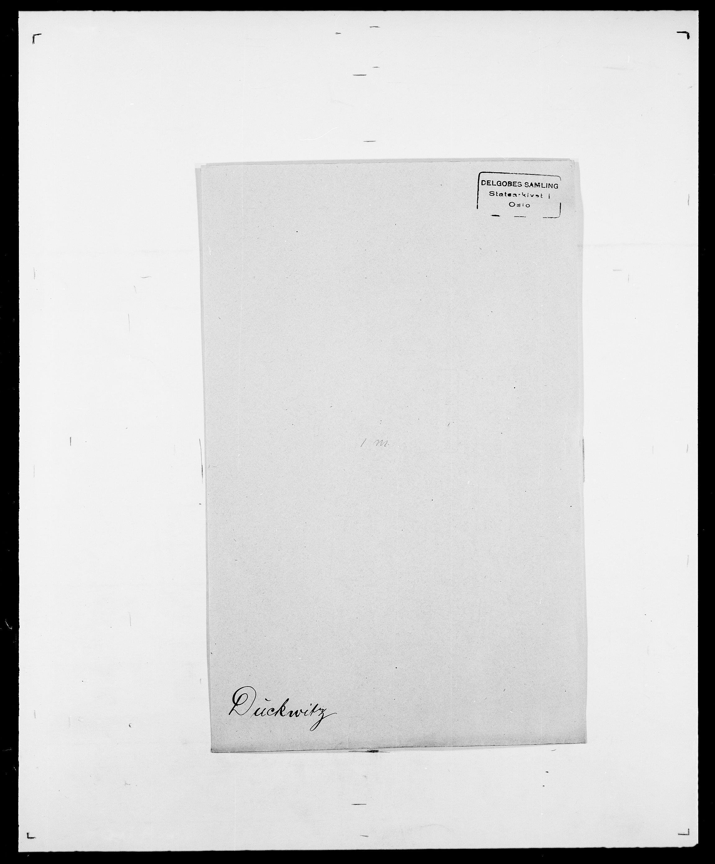 SAO, Delgobe, Charles Antoine - samling, D/Da/L0009: Dahl - v. Düren, s. 803
