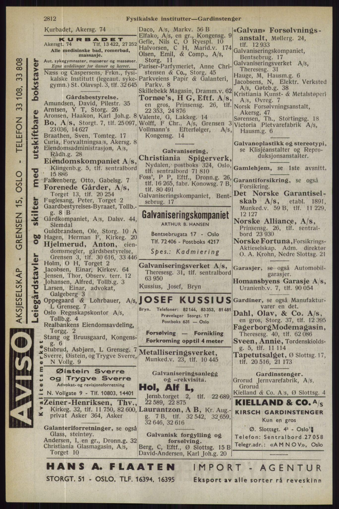 RA, Oslo adressebok (publikasjon)*, 1944, s. 2812