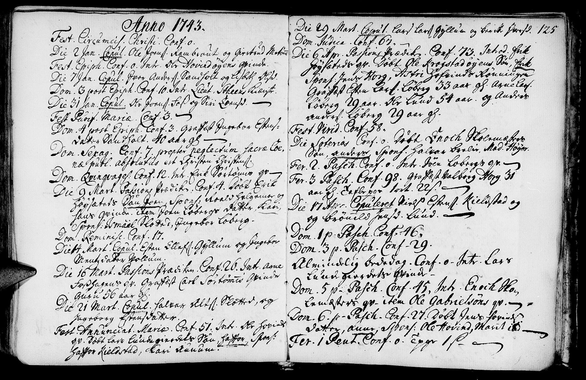 SAT, Ministerialprotokoller, klokkerbøker og fødselsregistre - Sør-Trøndelag, 692/L1101: Ministerialbok nr. 692A01, 1690-1746, s. 125