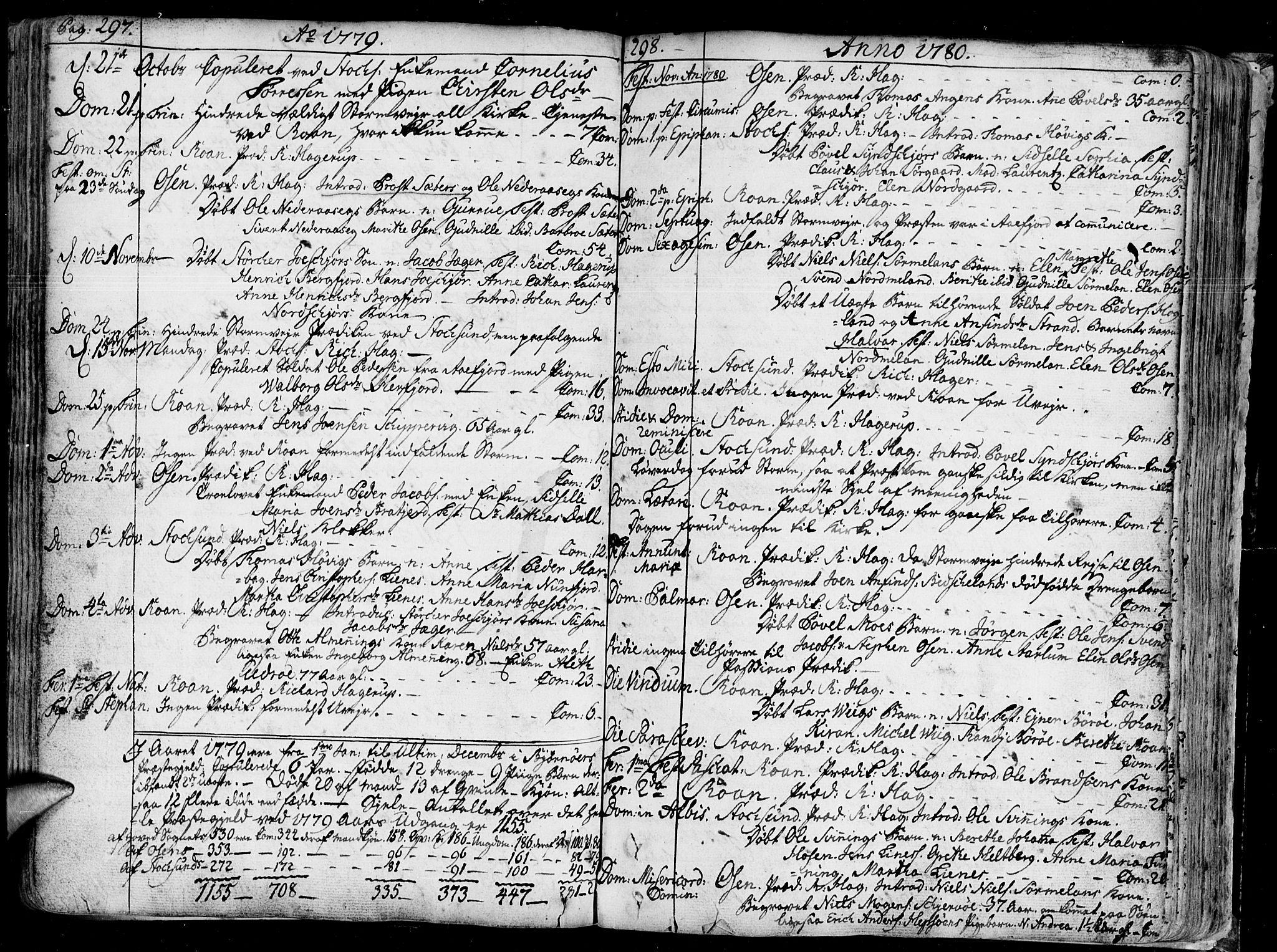 SAT, Ministerialprotokoller, klokkerbøker og fødselsregistre - Sør-Trøndelag, 657/L0700: Ministerialbok nr. 657A01, 1732-1801, s. 297-298
