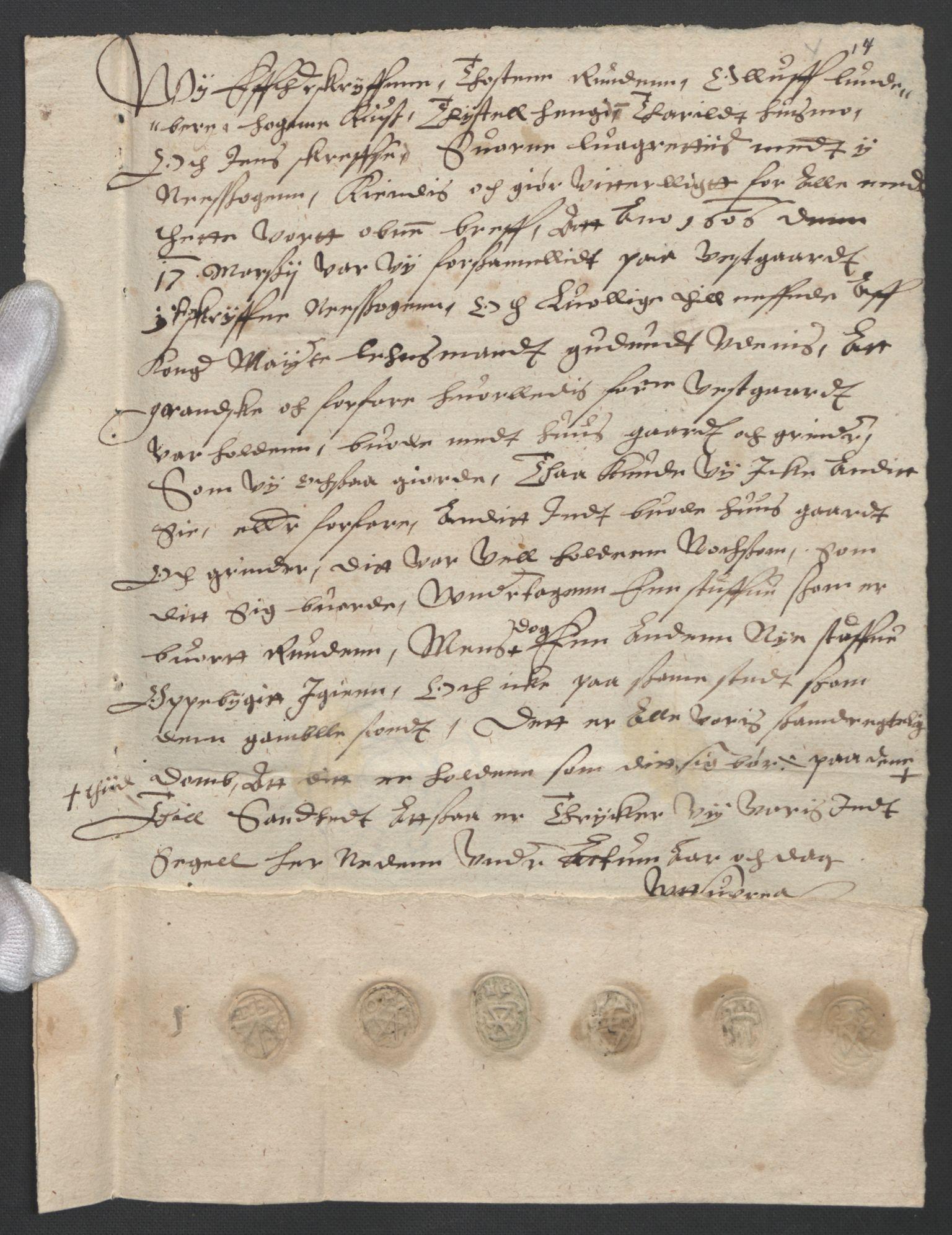SAO, Oslo stiftsdireksjon, G/Gb/L0001: Bispestolens dokumenter, 1584-1612, s. 14