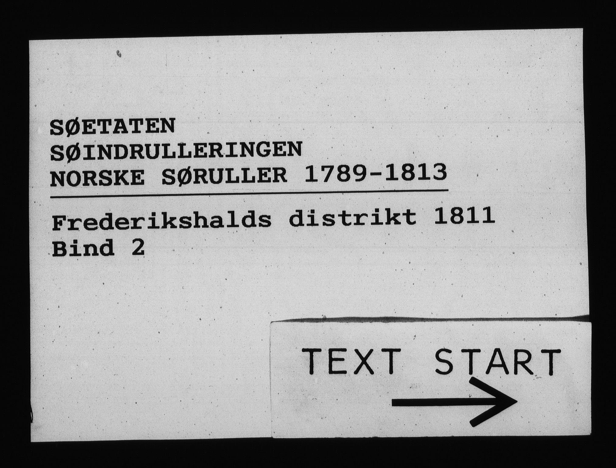 RA, Sjøetaten, F/L0205: Fredrikshalds distrikt, bind 2, 1811