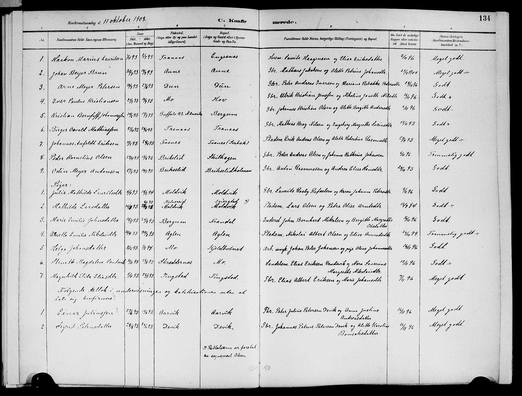 SAT, Ministerialprotokoller, klokkerbøker og fødselsregistre - Nord-Trøndelag, 773/L0617: Ministerialbok nr. 773A08, 1887-1910, s. 134