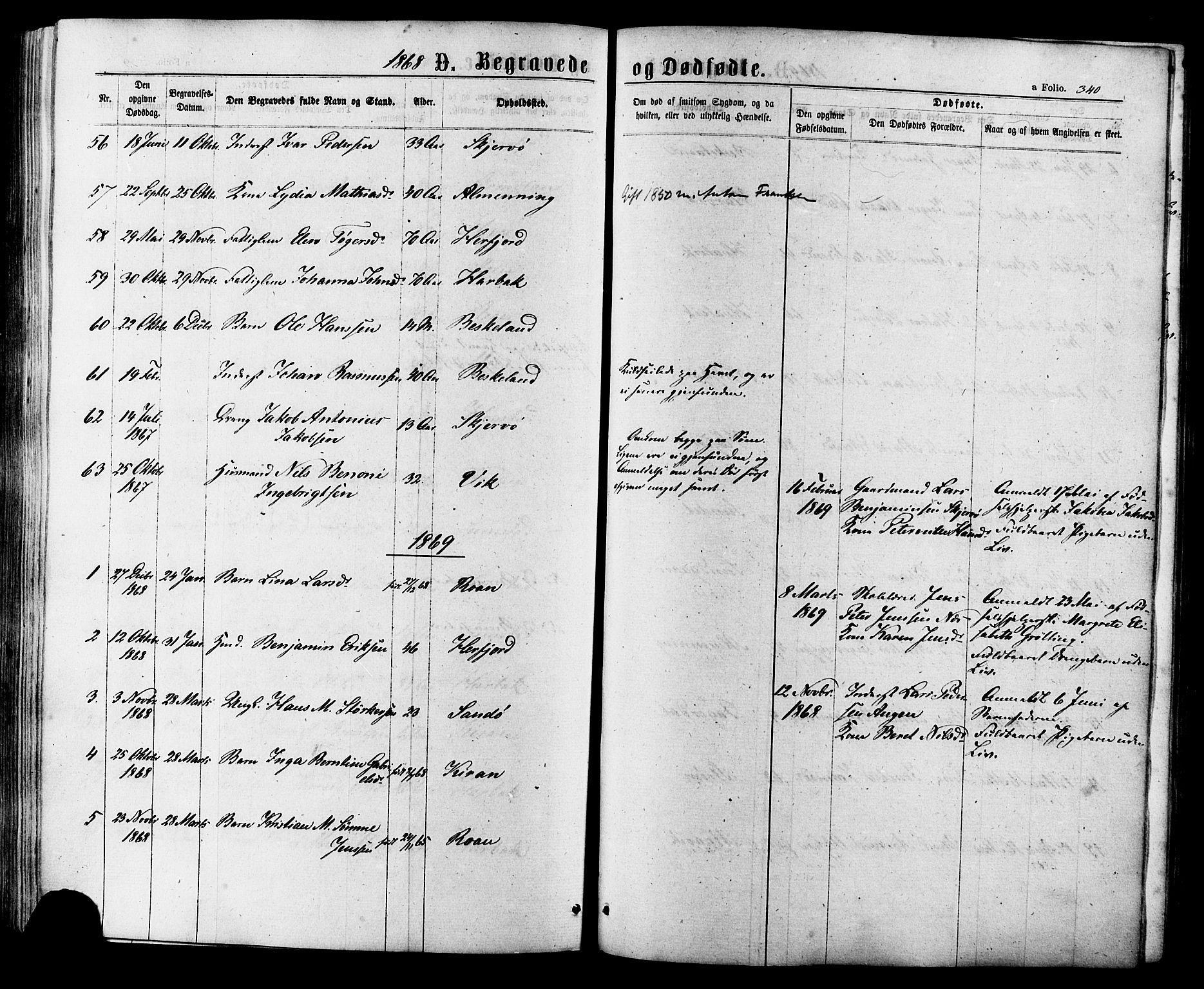 SAT, Ministerialprotokoller, klokkerbøker og fødselsregistre - Sør-Trøndelag, 657/L0706: Ministerialbok nr. 657A07, 1867-1878, s. 340