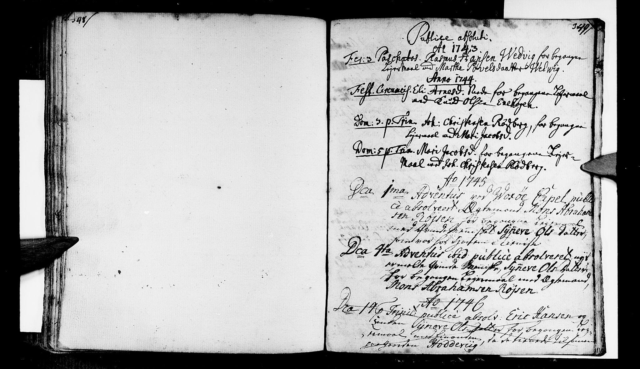 SAB, Selje sokneprestembete*, Ministerialbok nr. A 4, 1743-1759, s. 348-349