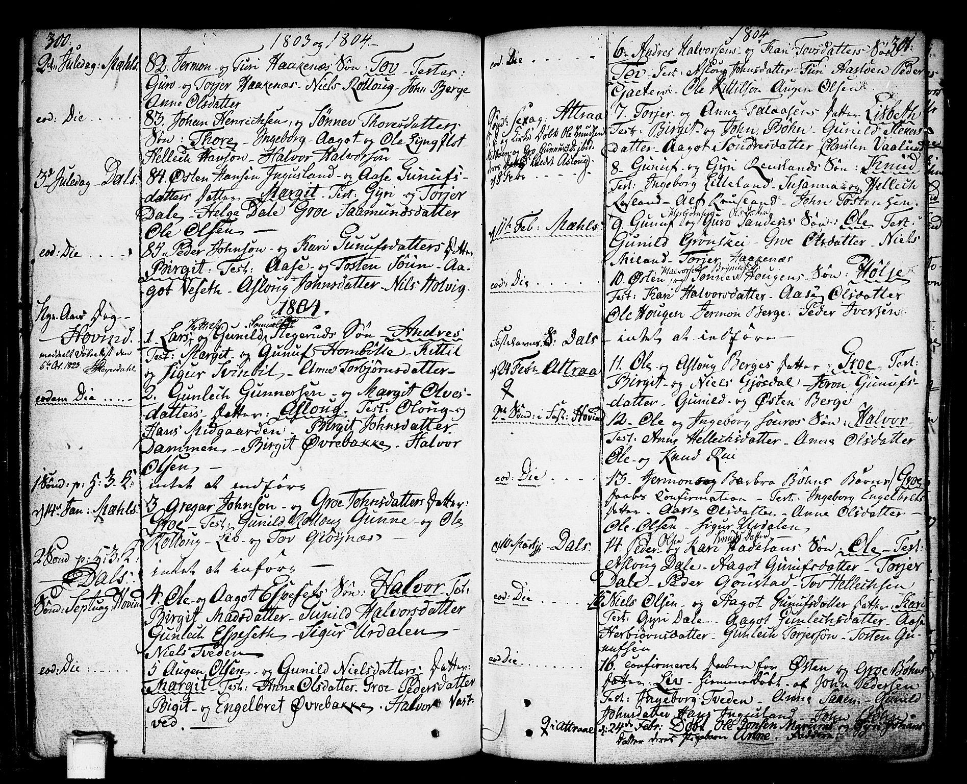 SAKO, Tinn kirkebøker, F/Fa/L0002: Ministerialbok nr. I 2, 1757-1810, s. 300-301