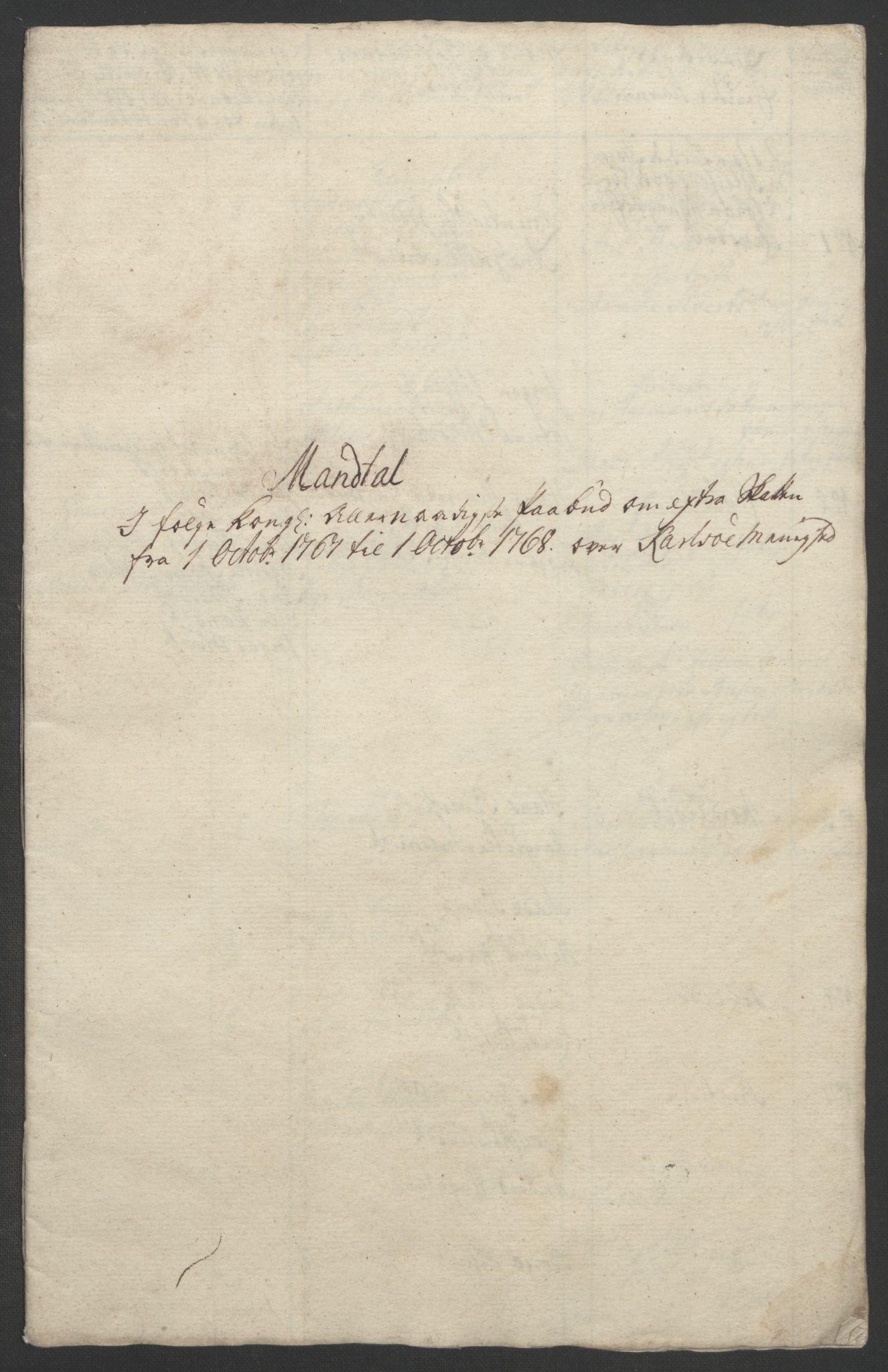 RA, Rentekammeret inntil 1814, Realistisk ordnet avdeling, Ol/L0022b: [Gg 10]: Ekstraskatten, 23.09.1762. Senja og Troms, 1765-1768, s. 309