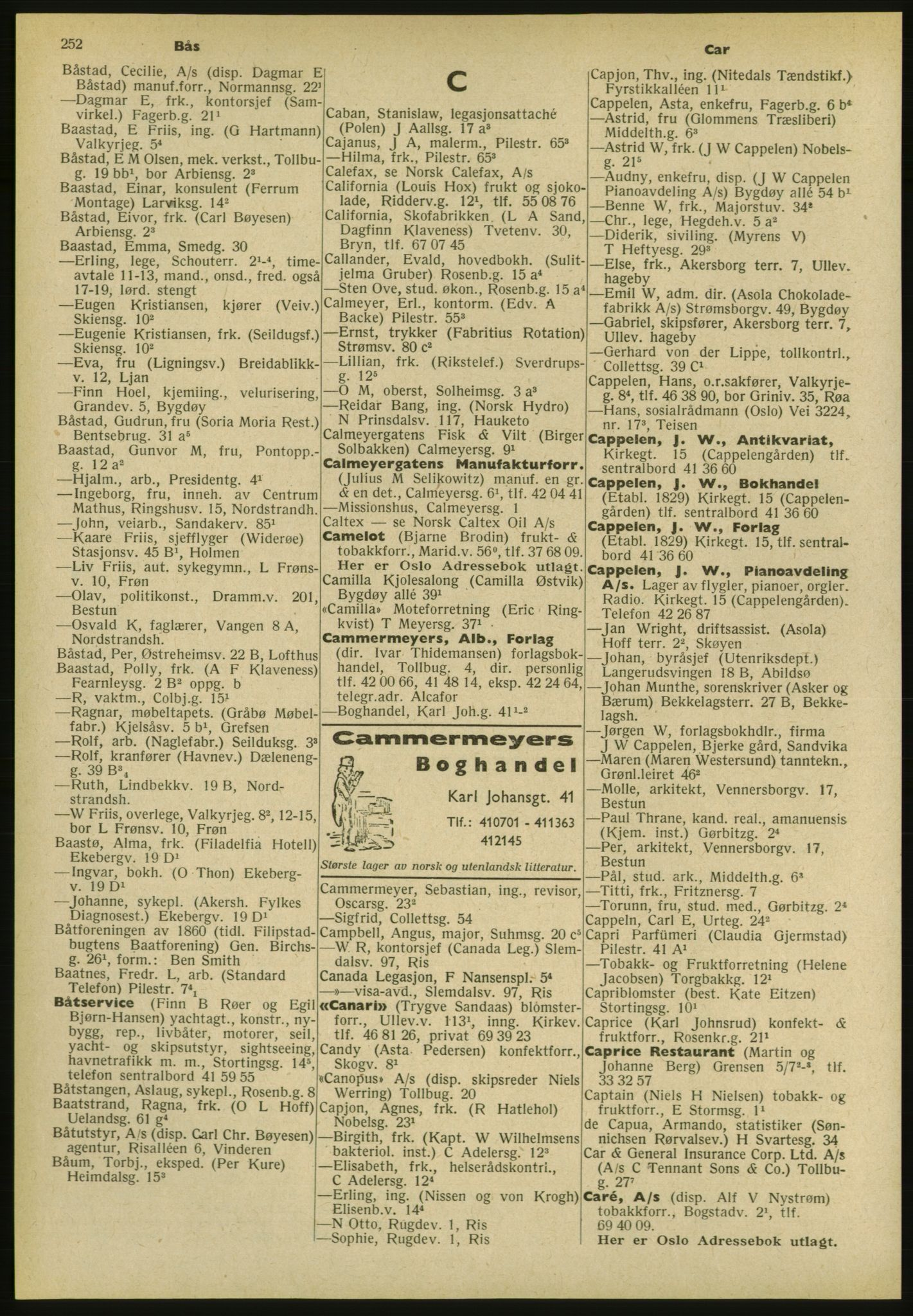 PUBL, Kristiania/Oslo adressebok, 1952, s. 252