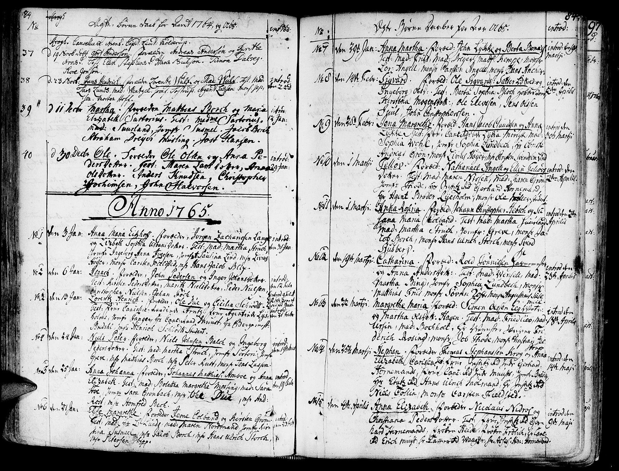 SAT, Ministerialprotokoller, klokkerbøker og fødselsregistre - Sør-Trøndelag, 602/L0103: Ministerialbok nr. 602A01, 1732-1774, s. 84