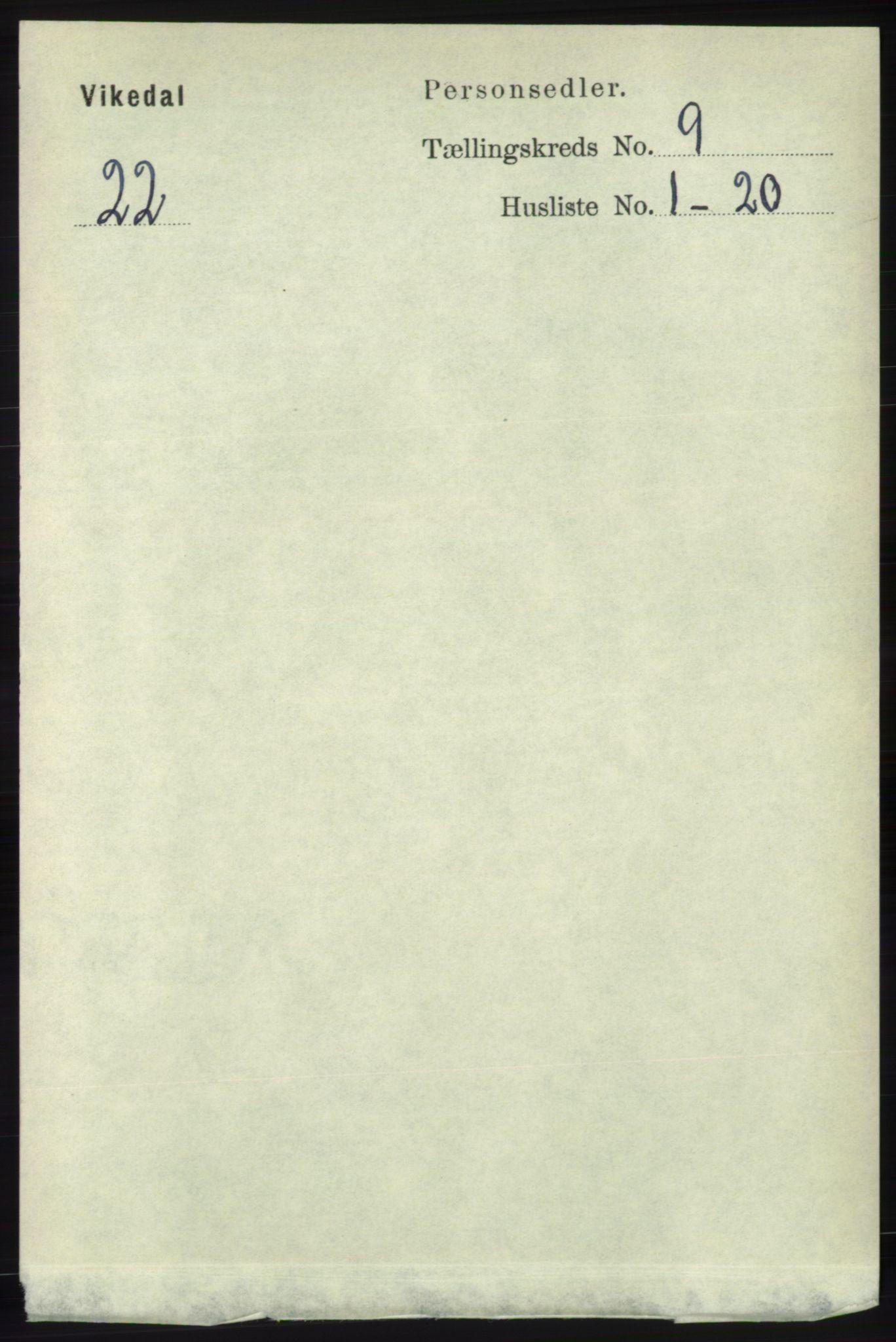 RA, Folketelling 1891 for 1157 Vikedal herred, 1891, s. 2365