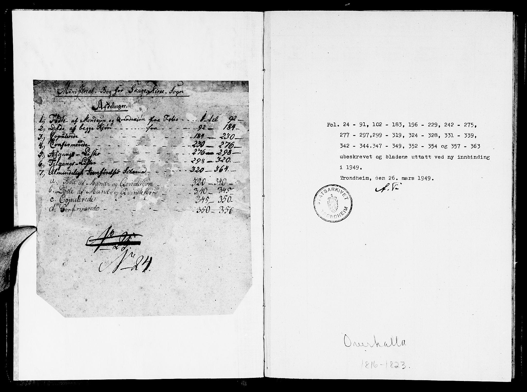 SAT, Ministerialprotokoller, klokkerbøker og fødselsregistre - Nord-Trøndelag, 766/L0565: Klokkerbok nr. 767C01, 1817-1823