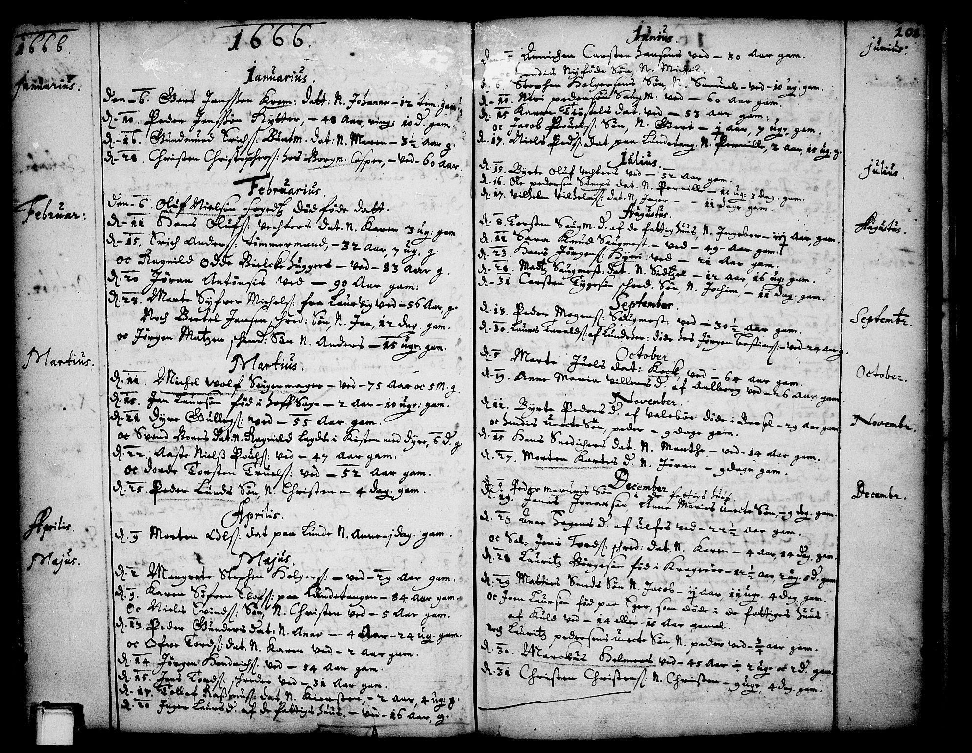 SAKO, Skien kirkebøker, F/Fa/L0001: Ministerialbok nr. 1, 1659-1679, s. 101