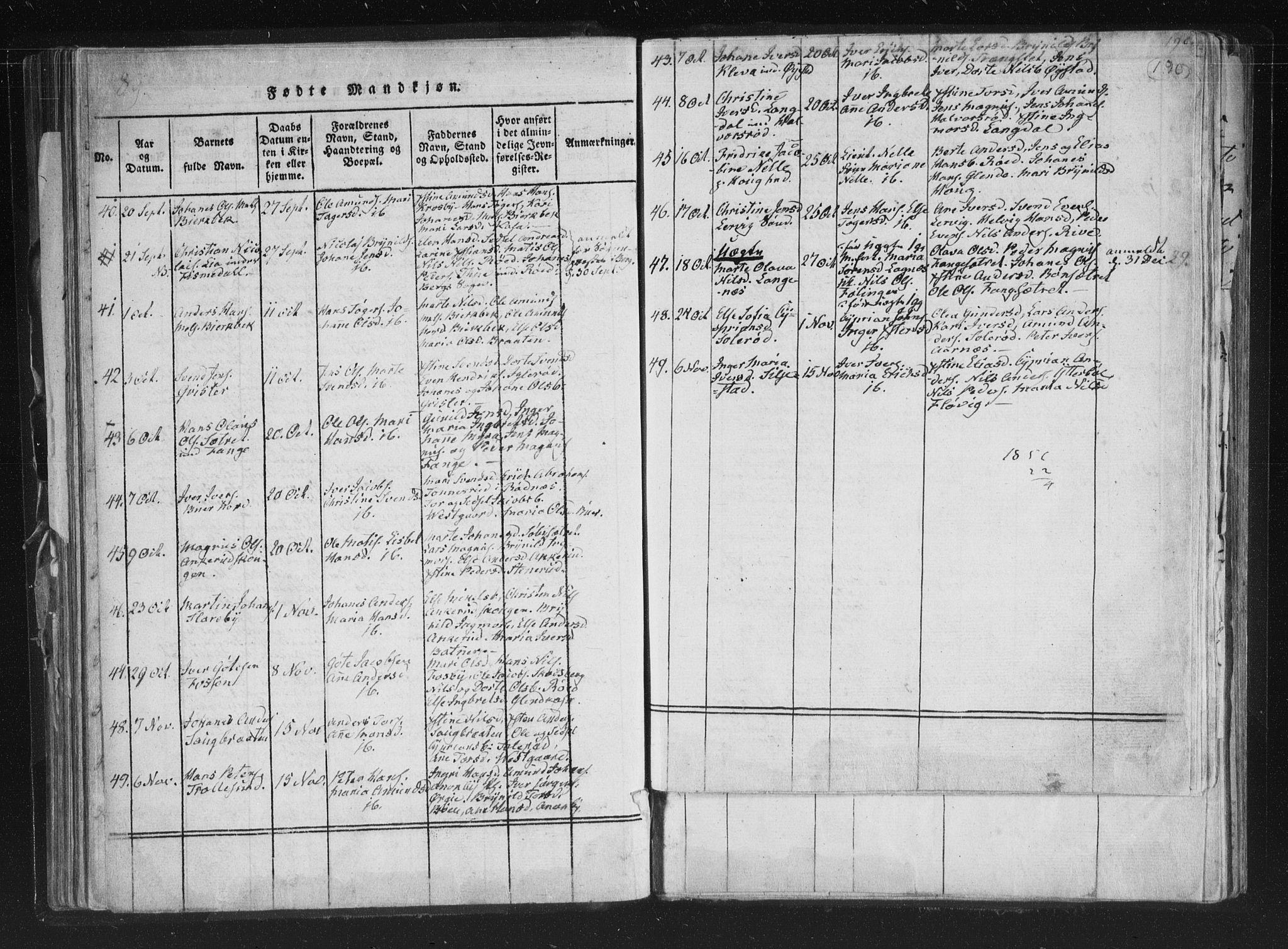 SAO, Aremark prestekontor Kirkebøker, F/Fc/L0001: Ministerialbok nr. III 1, 1814-1834, s. 189-190