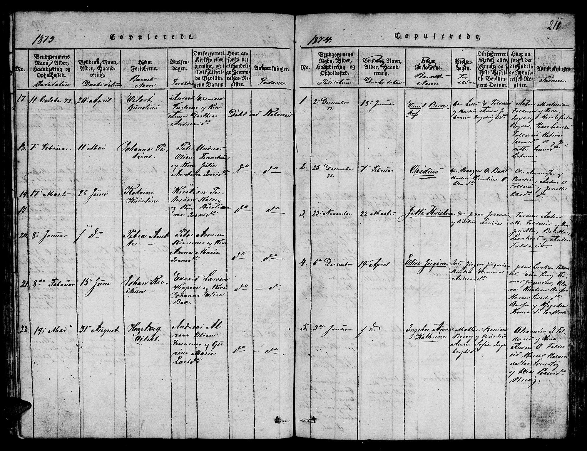 SAT, Ministerialprotokoller, klokkerbøker og fødselsregistre - Nord-Trøndelag, 780/L0648: Klokkerbok nr. 780C01 /3, 1815-1877, s. 211