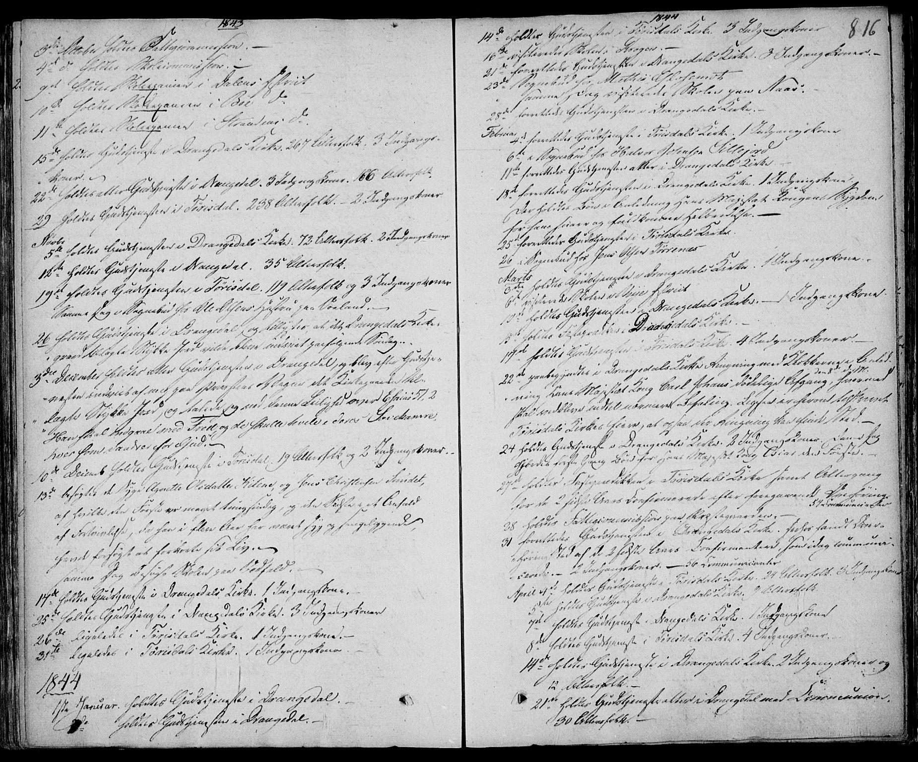 SAKO, Drangedal kirkebøker, F/Fa/L0007b: Ministerialbok nr. 7b, 1837-1856, s. 816