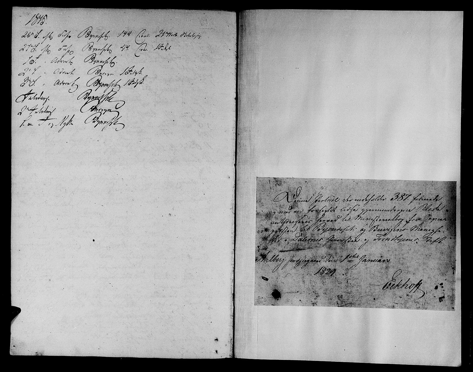 SAT, Ministerialprotokoller, klokkerbøker og fødselsregistre - Sør-Trøndelag, 612/L0374: Ministerialbok nr. 612A07 /1, 1829-1845