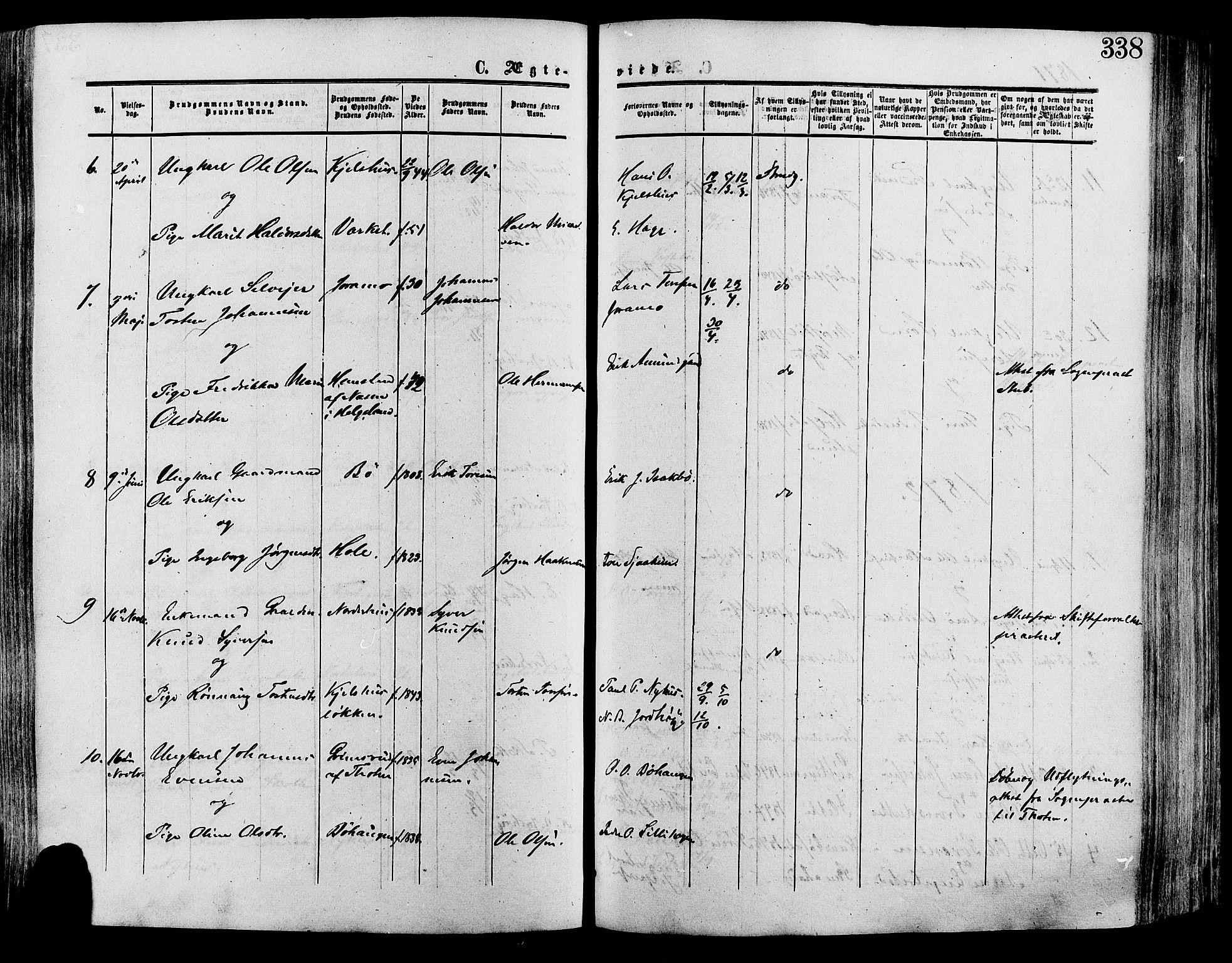 SAH, Lesja prestekontor, Ministerialbok nr. 8, 1854-1880, s. 338