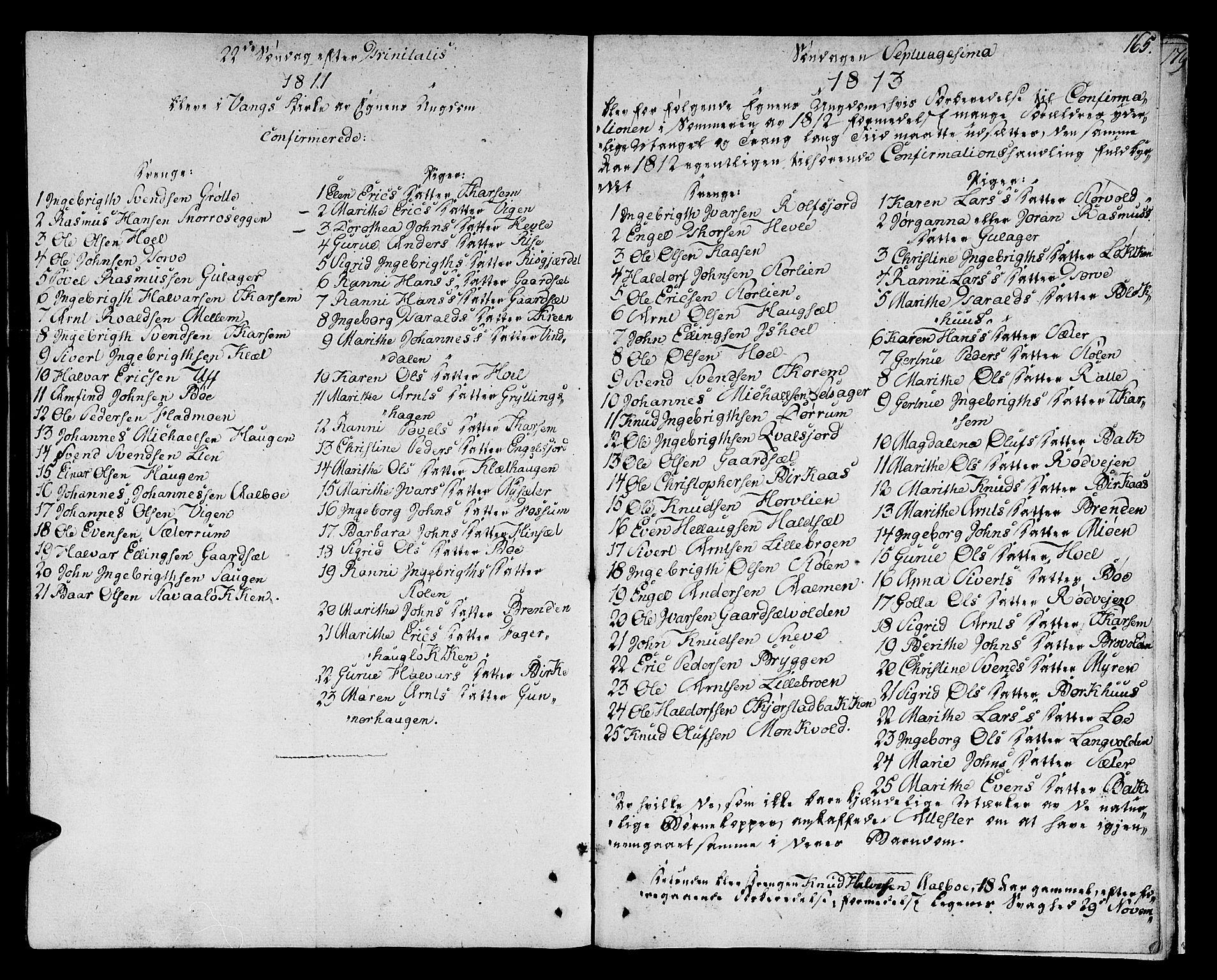 SAT, Ministerialprotokoller, klokkerbøker og fødselsregistre - Sør-Trøndelag, 678/L0894: Ministerialbok nr. 678A04, 1806-1815, s. 165