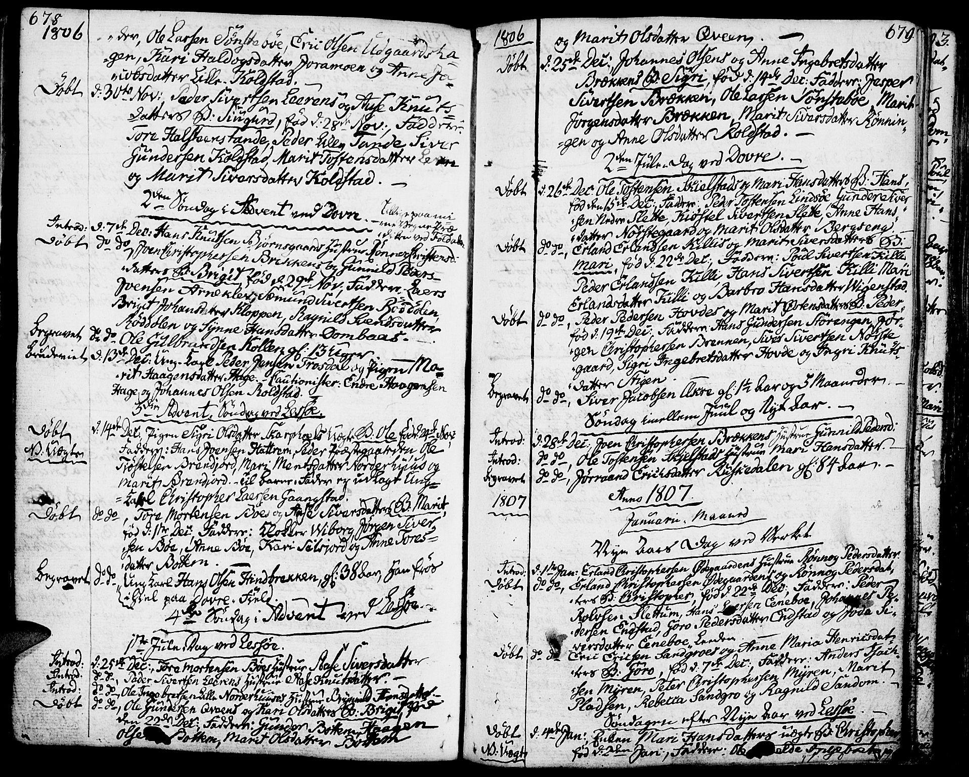 SAH, Lesja prestekontor, Ministerialbok nr. 3, 1777-1819, s. 678-679