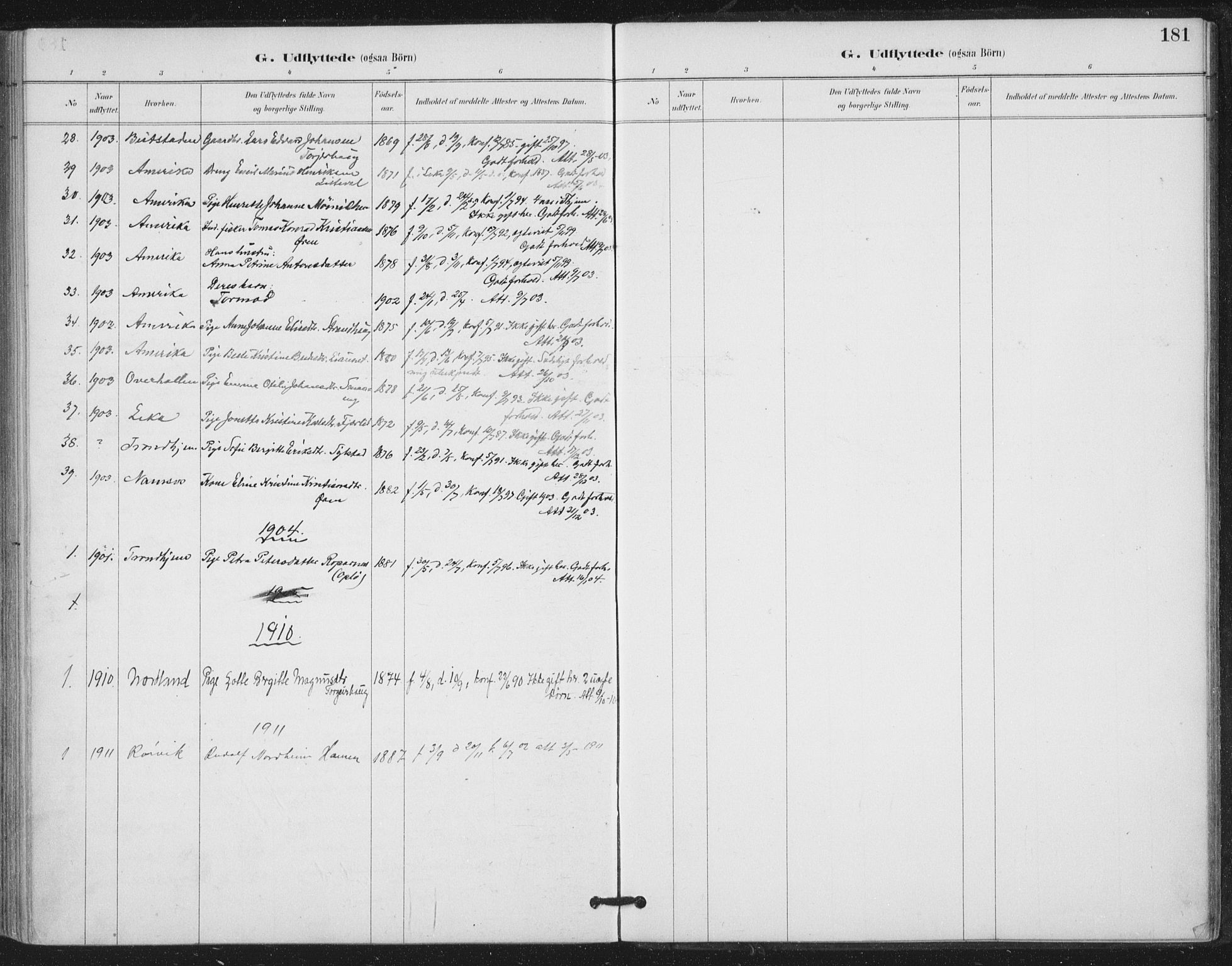 SAT, Ministerialprotokoller, klokkerbøker og fødselsregistre - Nord-Trøndelag, 780/L0644: Ministerialbok nr. 780A08, 1886-1903, s. 181