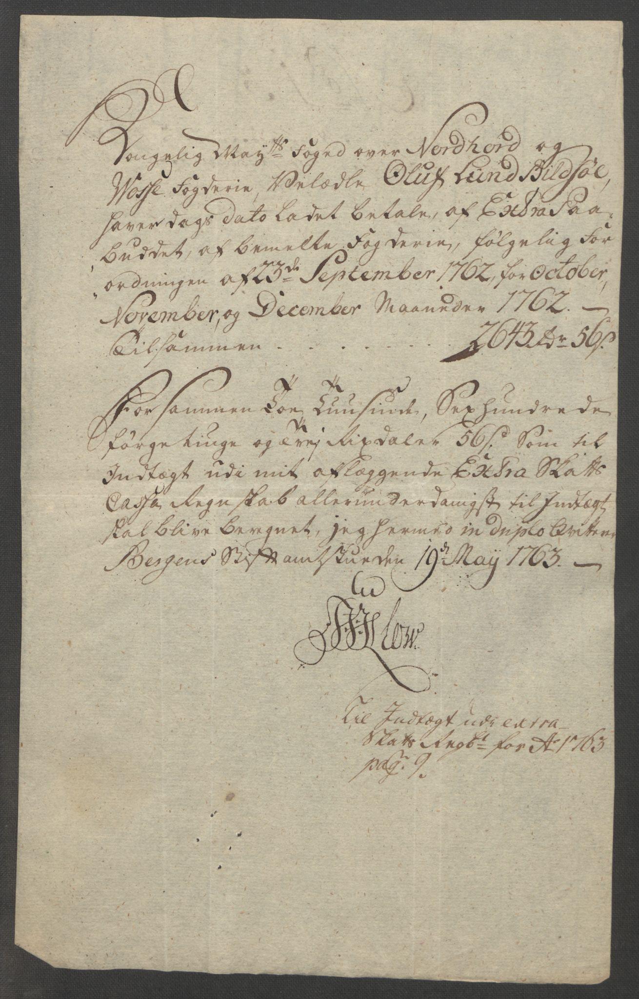 RA, Rentekammeret inntil 1814, Reviderte regnskaper, Fogderegnskap, R51/L3303: Ekstraskatten Nordhordland og Voss, 1762-1772, s. 17