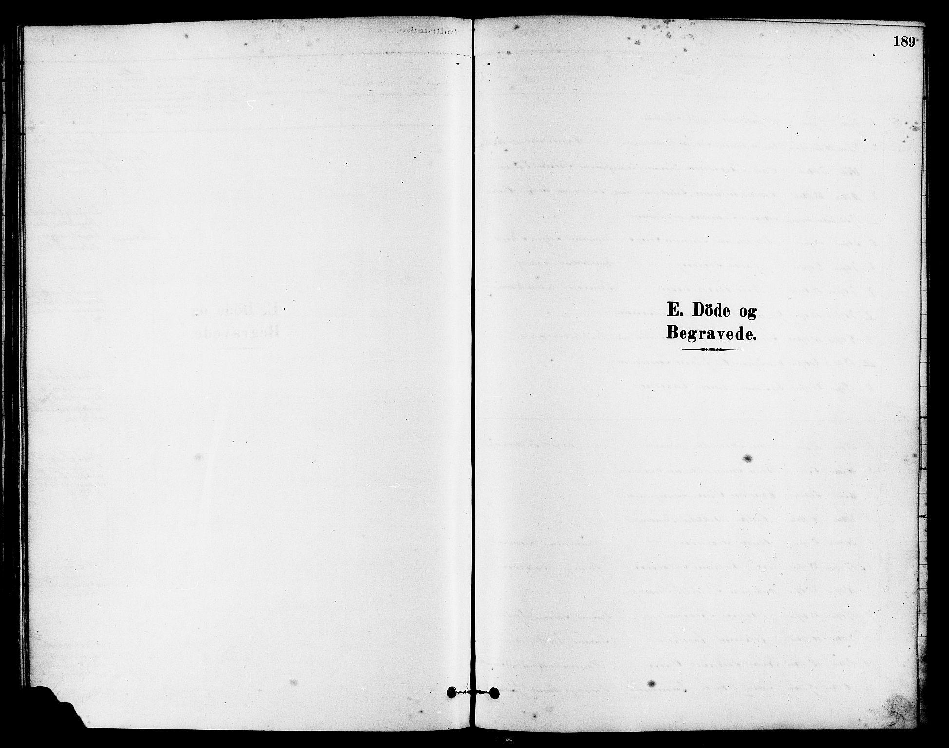 SAST, Egersund sokneprestkontor, S08/L0015: Ministerialbok nr. A 15, 1879-1892, s. 189