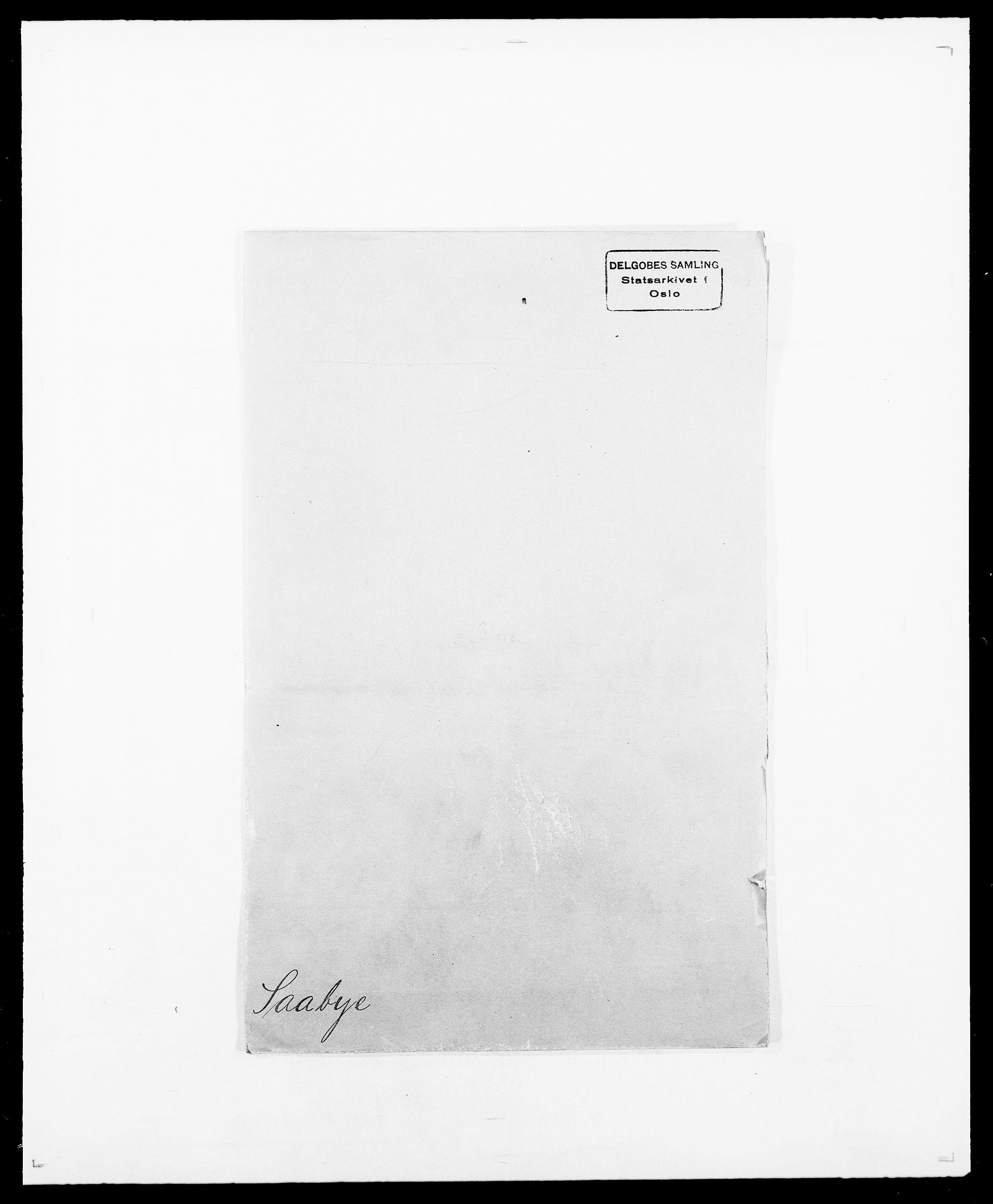 SAO, Delgobe, Charles Antoine - samling, D/Da/L0034: Saabye - Schmincke, s. 1
