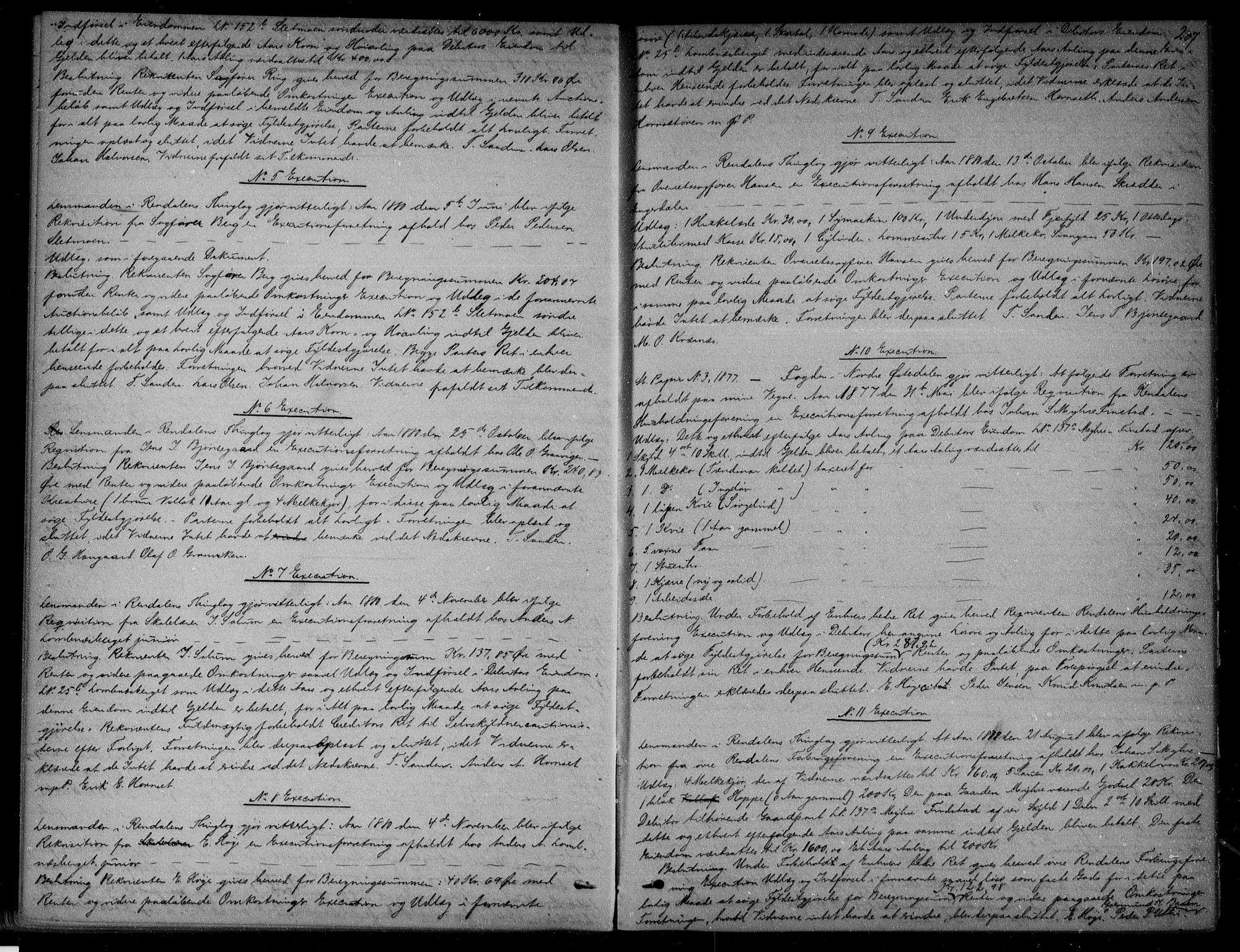 SAH, Nord-Østerdal tingrett, H/Hb/Hba/L0009: Pantebok nr. 9, 1879-1882, s. 207