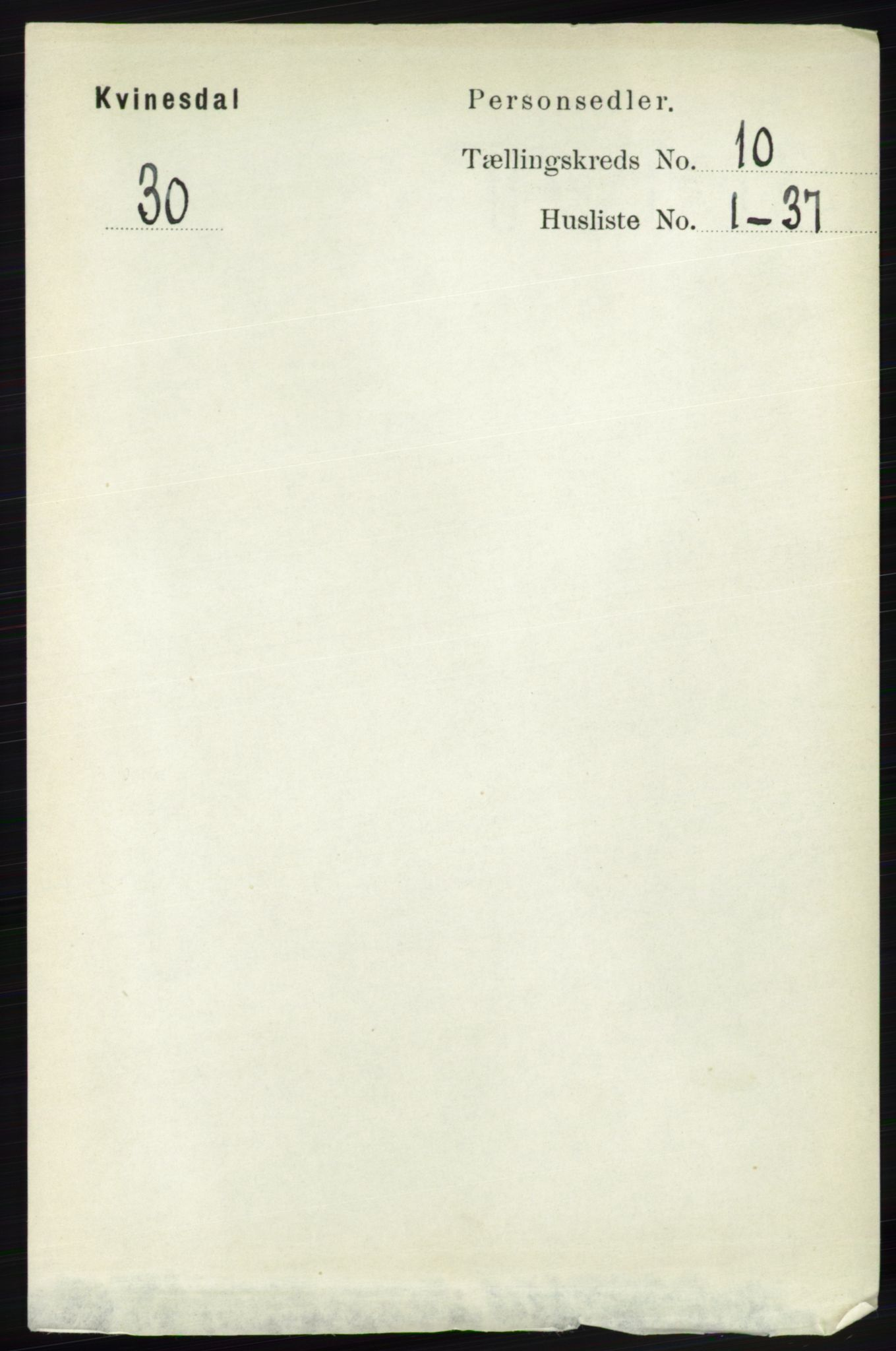 RA, Folketelling 1891 for 1037 Kvinesdal herred, 1891, s. 3858