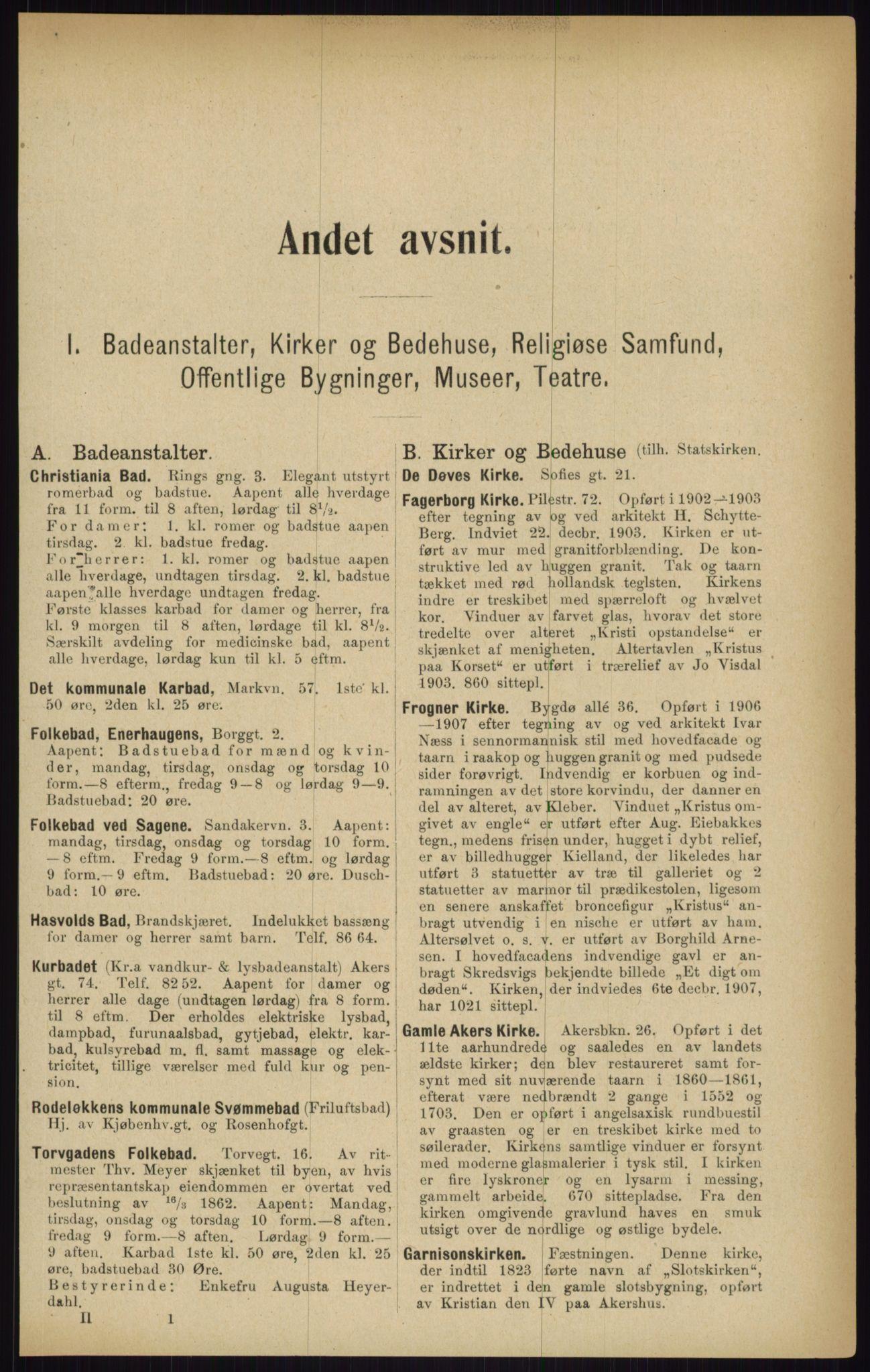 RA, Kristiania adressebok (publikasjon)*, 1916, s. 119
