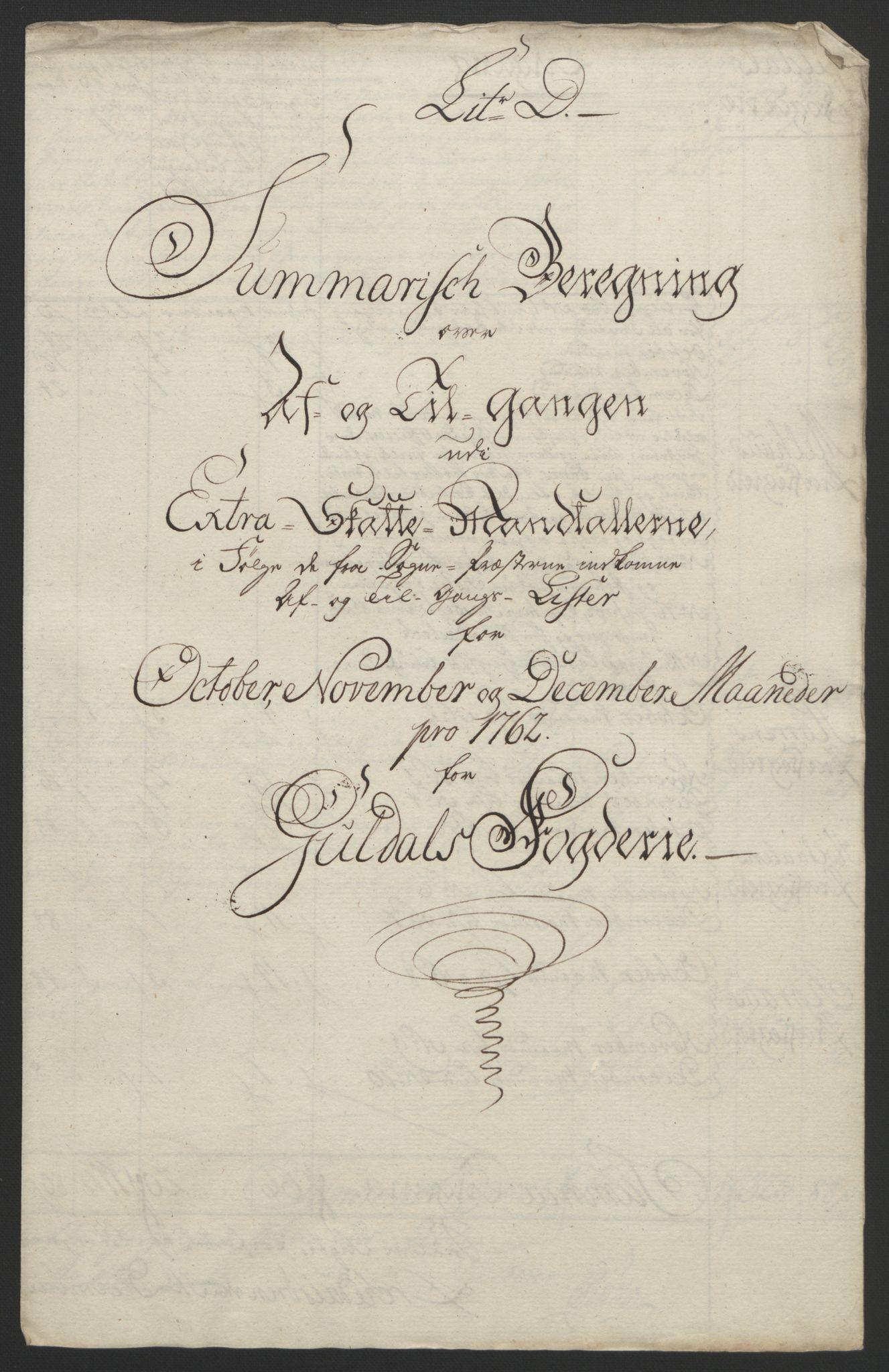 RA, Rentekammeret inntil 1814, Reviderte regnskaper, Fogderegnskap, R60/L4094: Ekstraskatten Orkdal og Gauldal, 1762-1765, s. 60