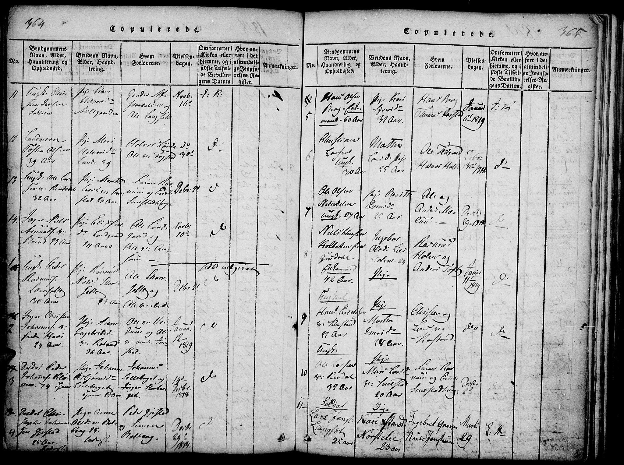 SAH, Fåberg prestekontor, Ministerialbok nr. 3, 1818-1833, s. 364-365