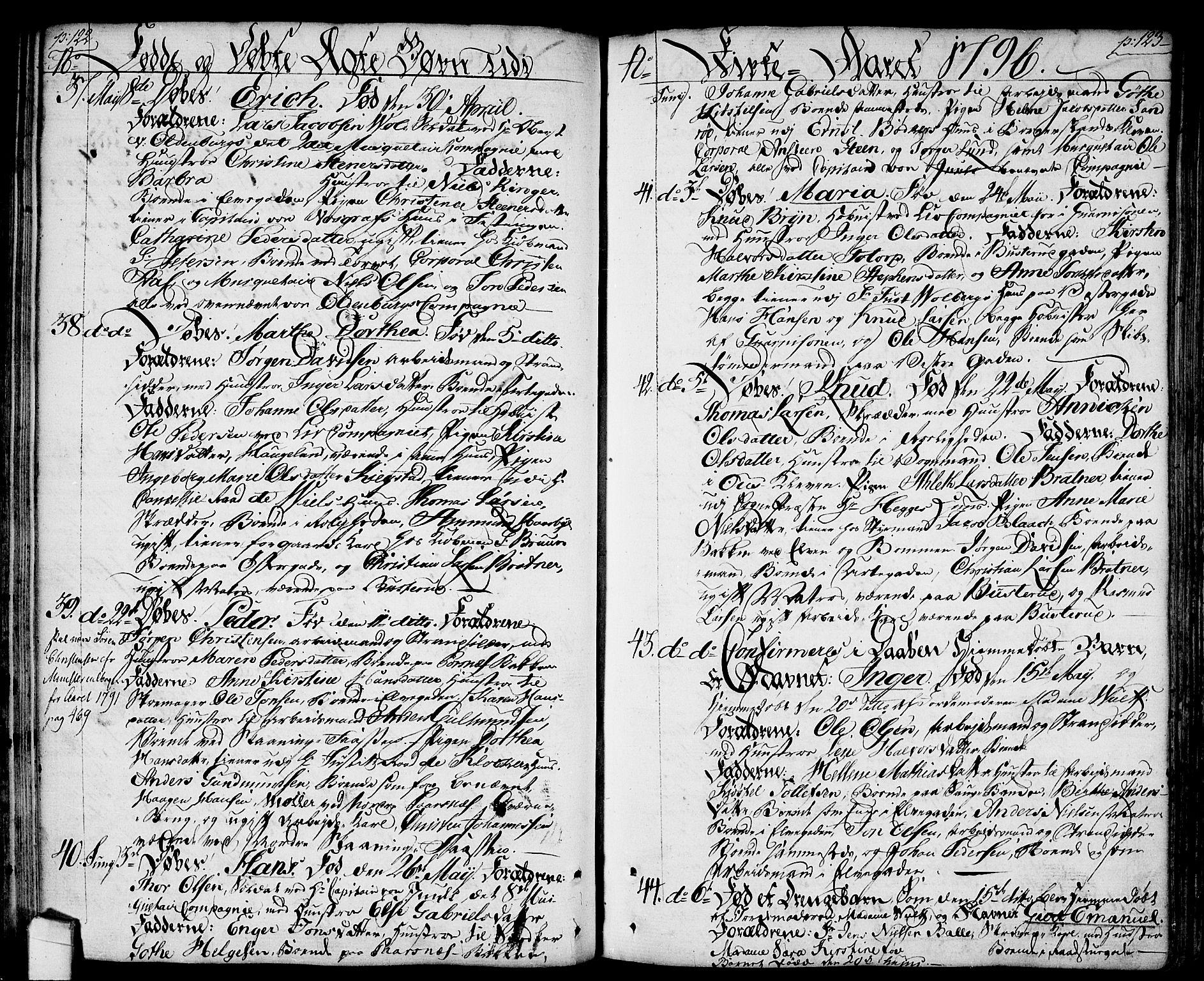 SAO, Halden prestekontor Kirkebøker, F/Fa/L0002: Ministerialbok nr. I 2, 1792-1812, s. 122-123