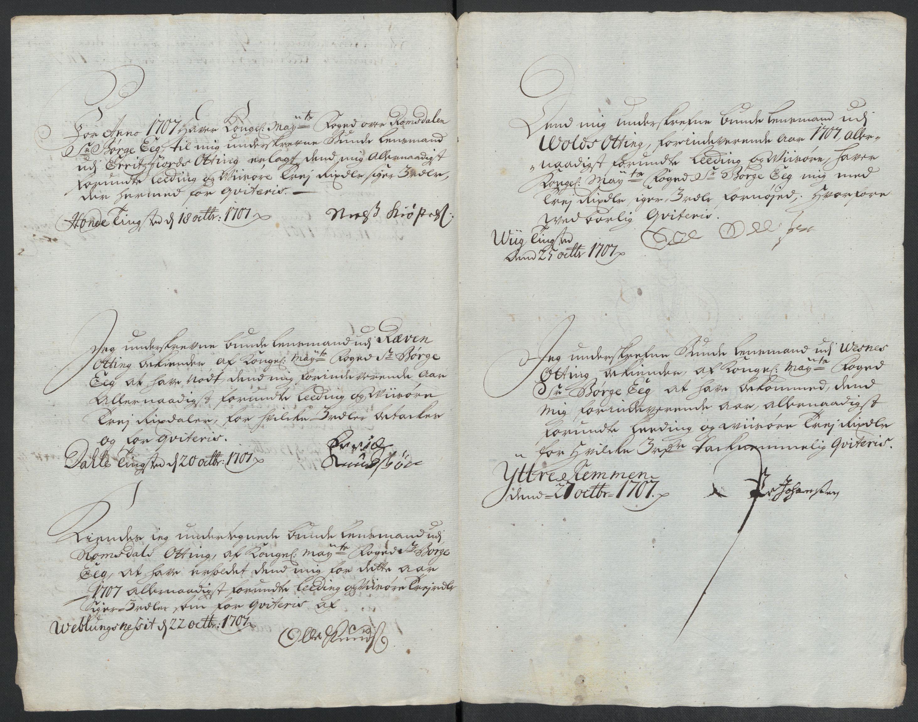 RA, Rentekammeret inntil 1814, Reviderte regnskaper, Fogderegnskap, R55/L3658: Fogderegnskap Romsdal, 1707-1708, s. 148