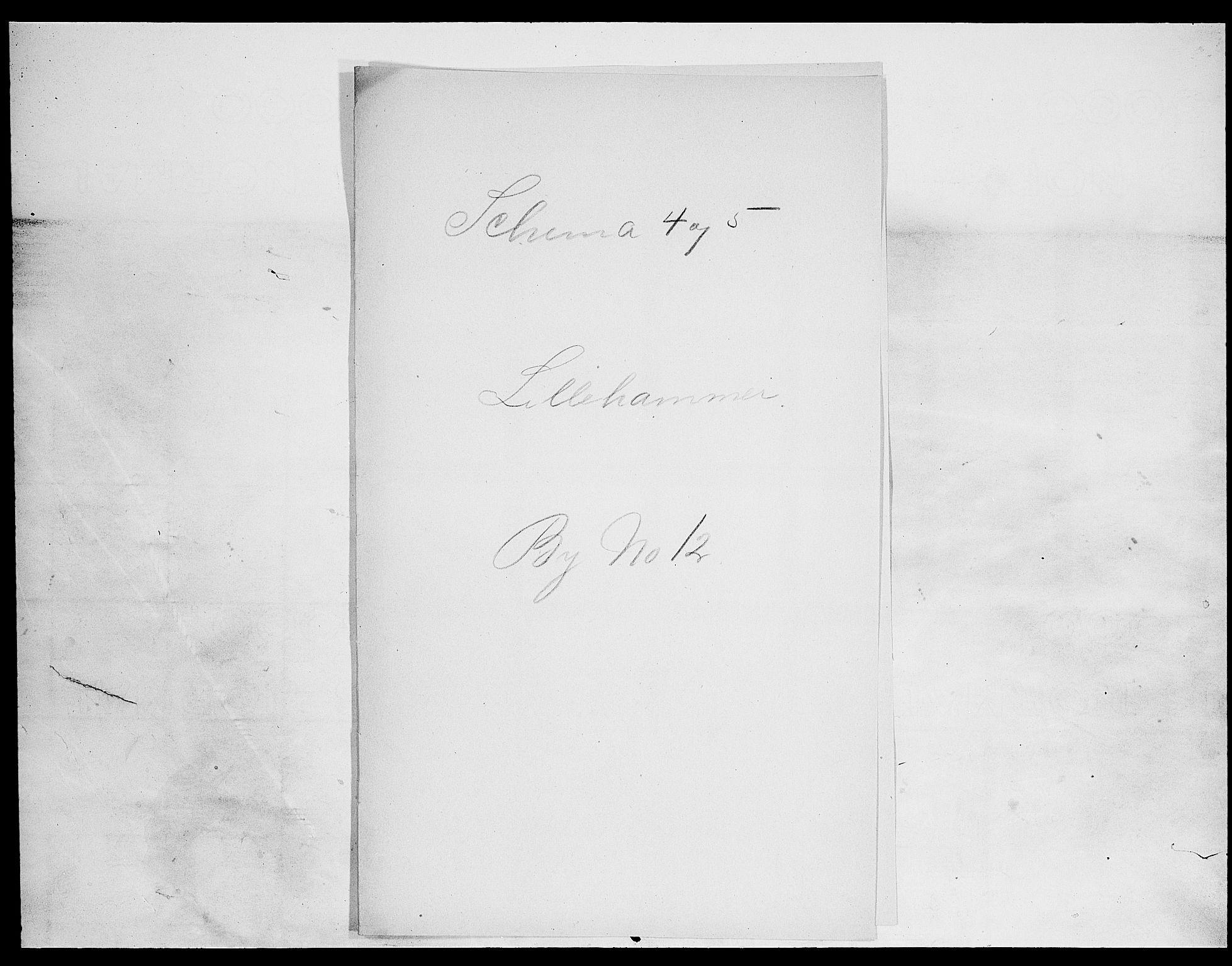 SAH, Folketelling 1900 for 0501 Lillehammer kjøpstad, 1900, s. 1