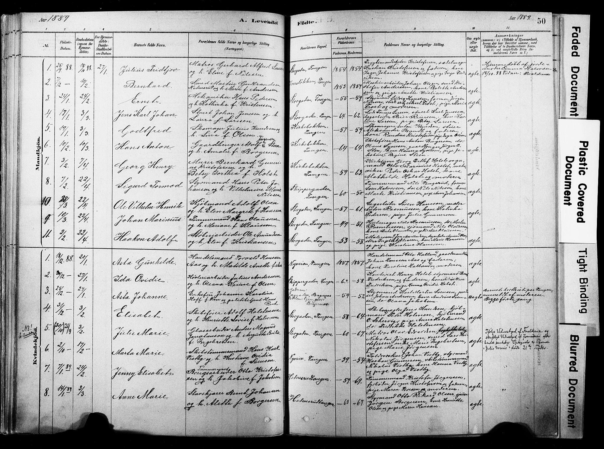 SAKO, Strømsø kirkebøker, F/Fb/L0006: Ministerialbok nr. II 6, 1879-1910, s. 50