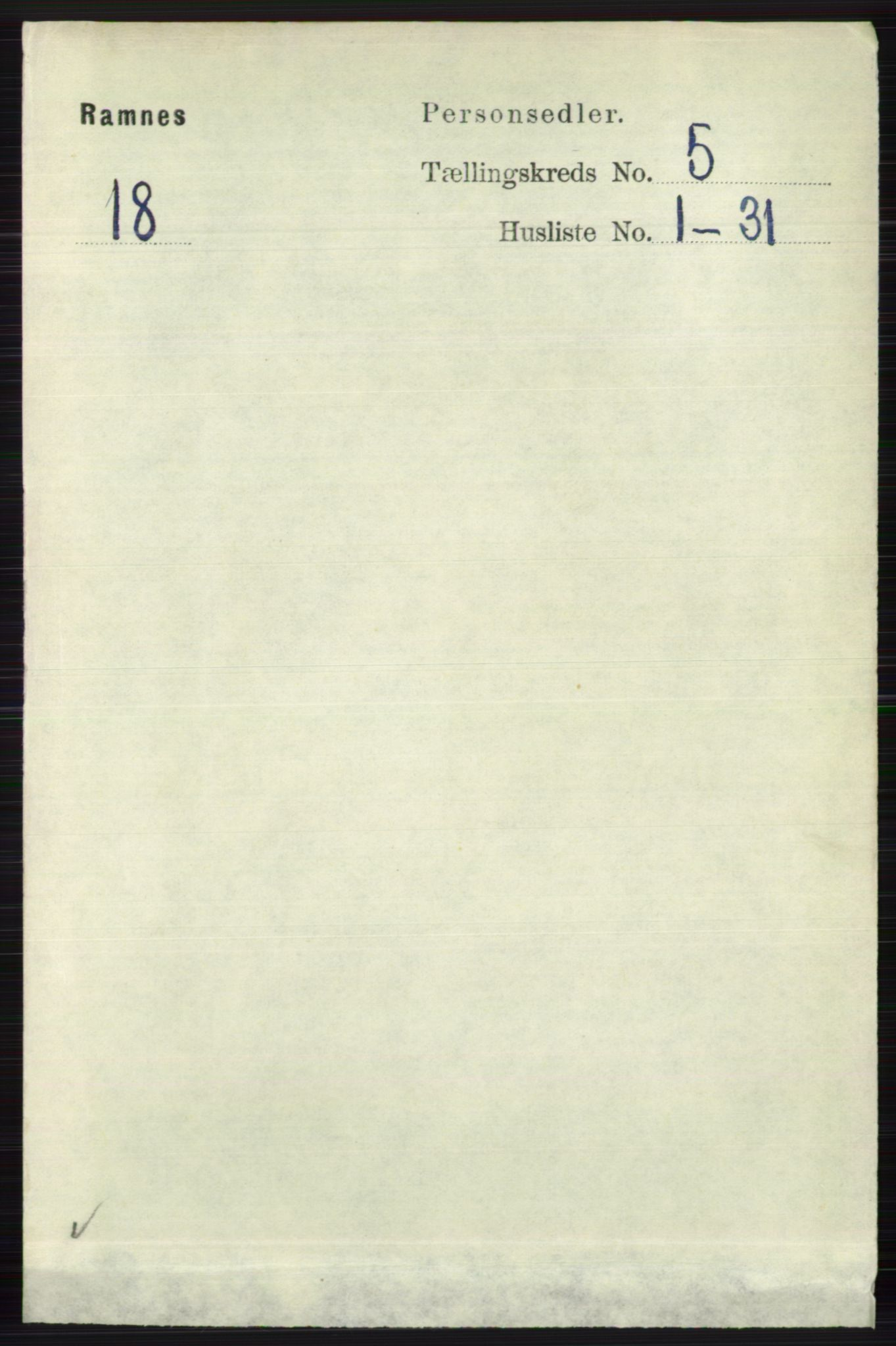 RA, Folketelling 1891 for 0718 Ramnes herred, 1891, s. 2543