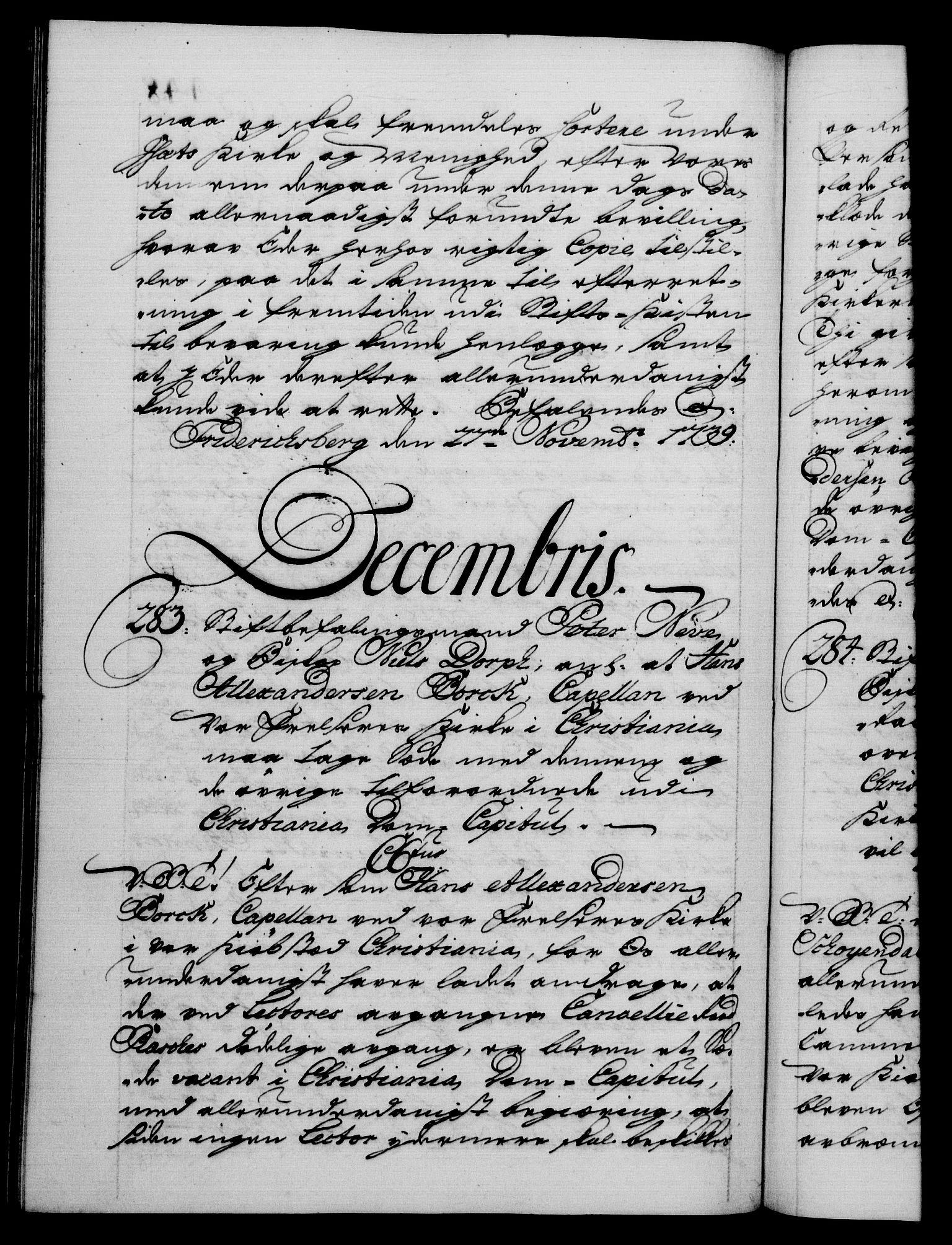 RA, Danske Kanselli 1572-1799, F/Fc/Fca/Fcab/L0028: Norske tegnelser, 1738-1740, s. 448b