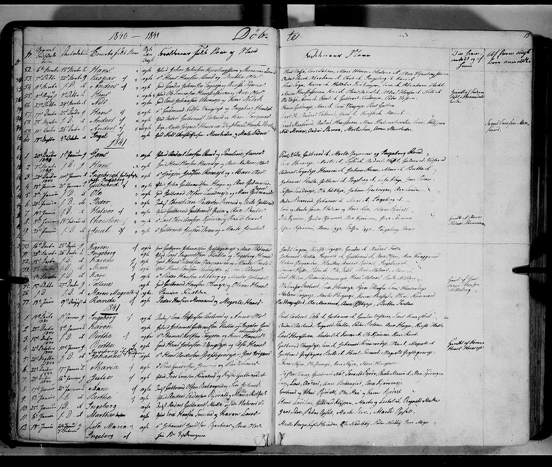 SAH, Jevnaker prestekontor, Ministerialbok nr. 6, 1837-1857, s. 15