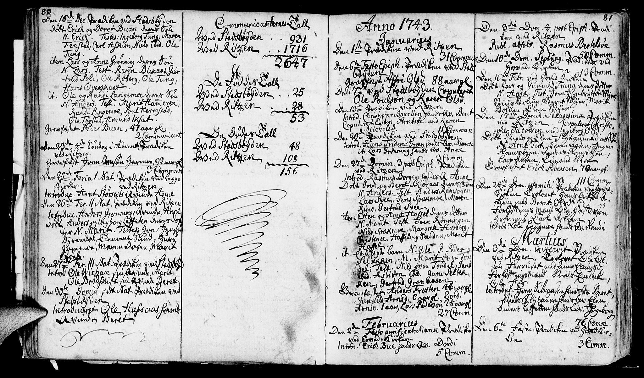 SAT, Ministerialprotokoller, klokkerbøker og fødselsregistre - Sør-Trøndelag, 646/L0604: Ministerialbok nr. 646A02, 1735-1750, s. 80-81