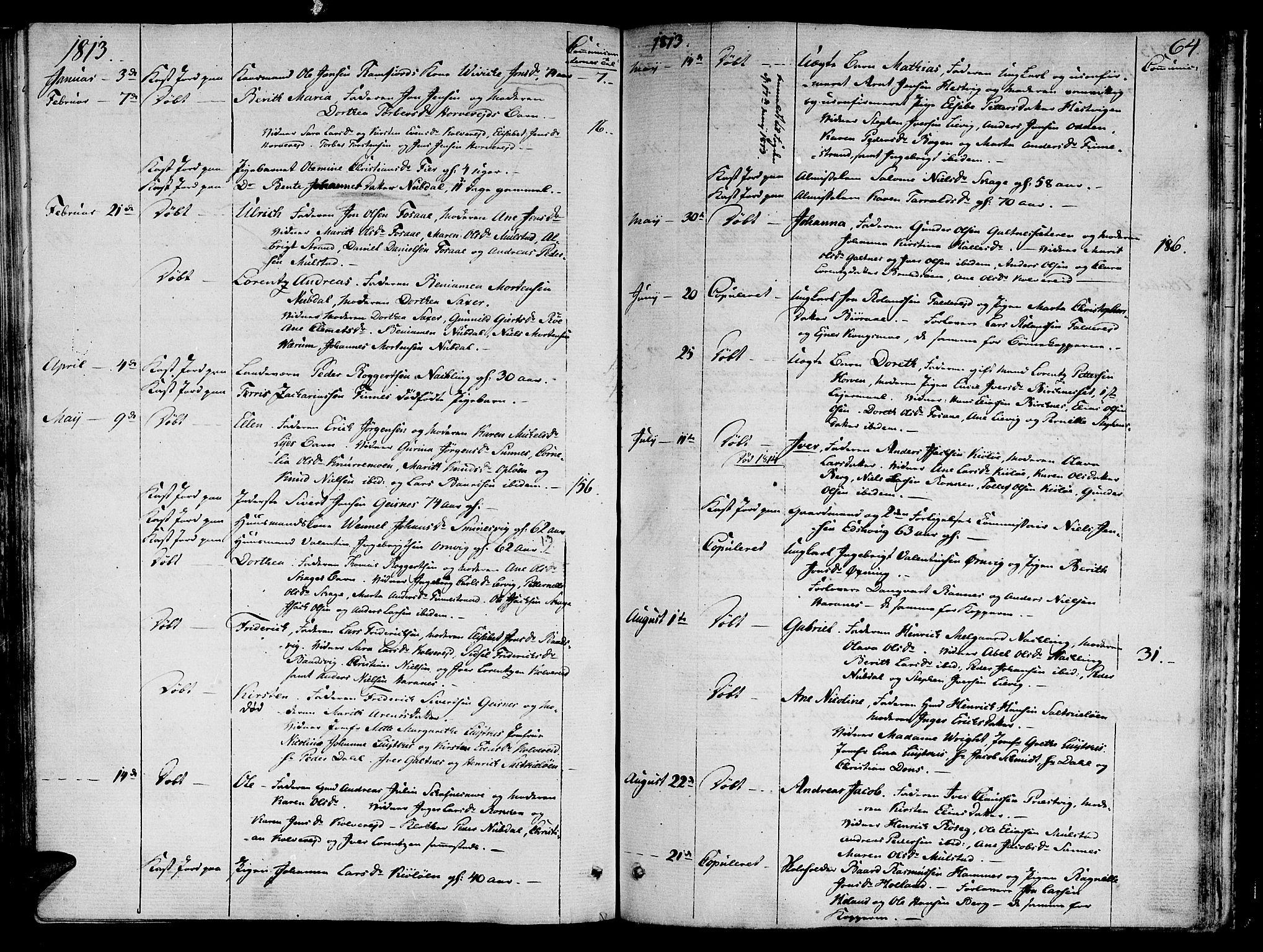 SAT, Ministerialprotokoller, klokkerbøker og fødselsregistre - Nord-Trøndelag, 780/L0633: Ministerialbok nr. 780A02 /1, 1787-1814, s. 64