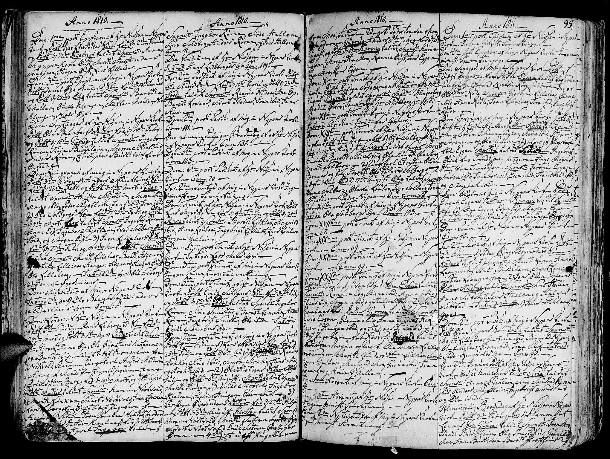 SAT, Ministerialprotokoller, klokkerbøker og fødselsregistre - Sør-Trøndelag, 691/L1063: Ministerialbok nr. 691A02 /3, 1768-1815, s. 95