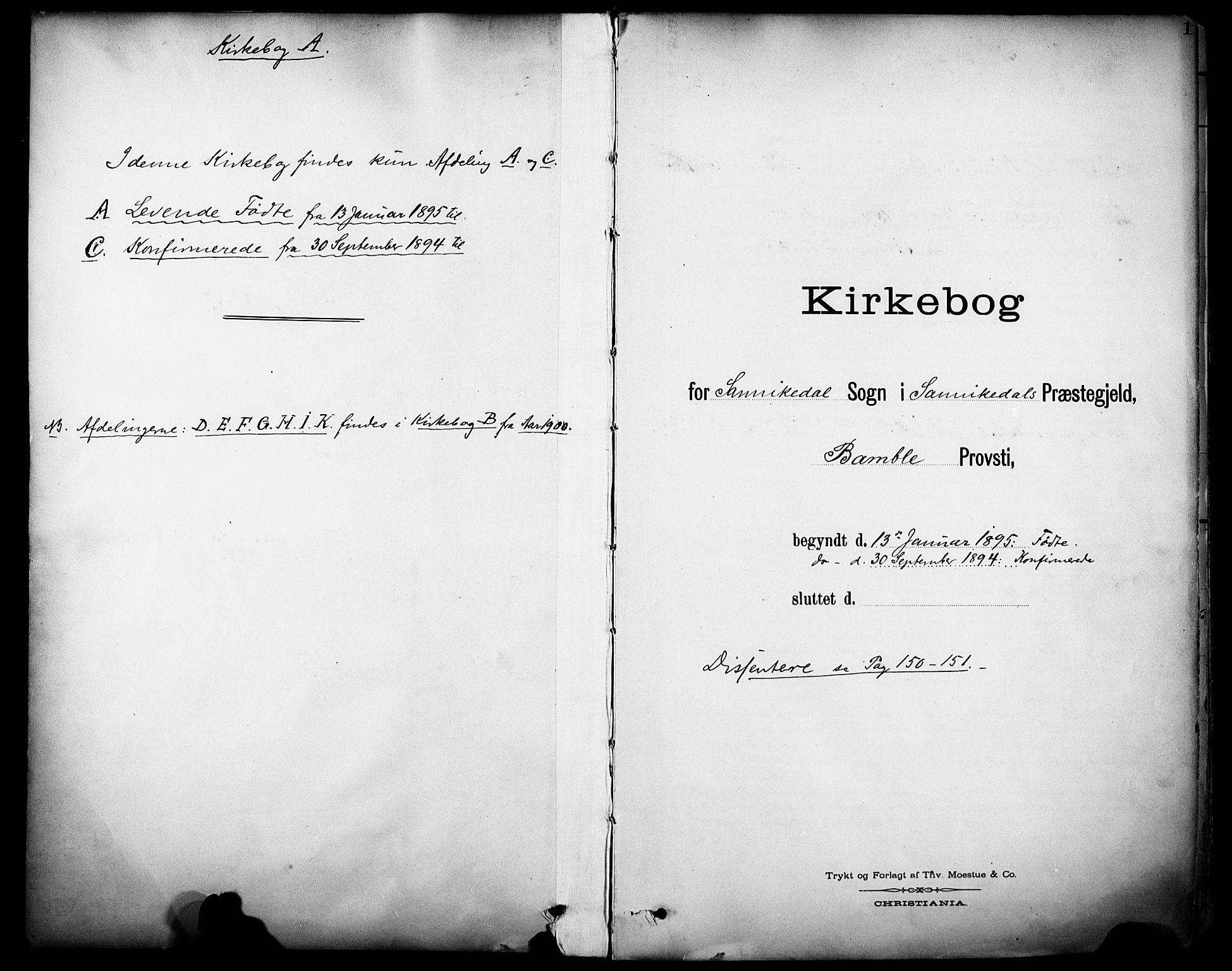 SAKO, Sannidal kirkebøker, F/Fa/L0016: Ministerialbok nr. 16, 1895-1911, s. 1